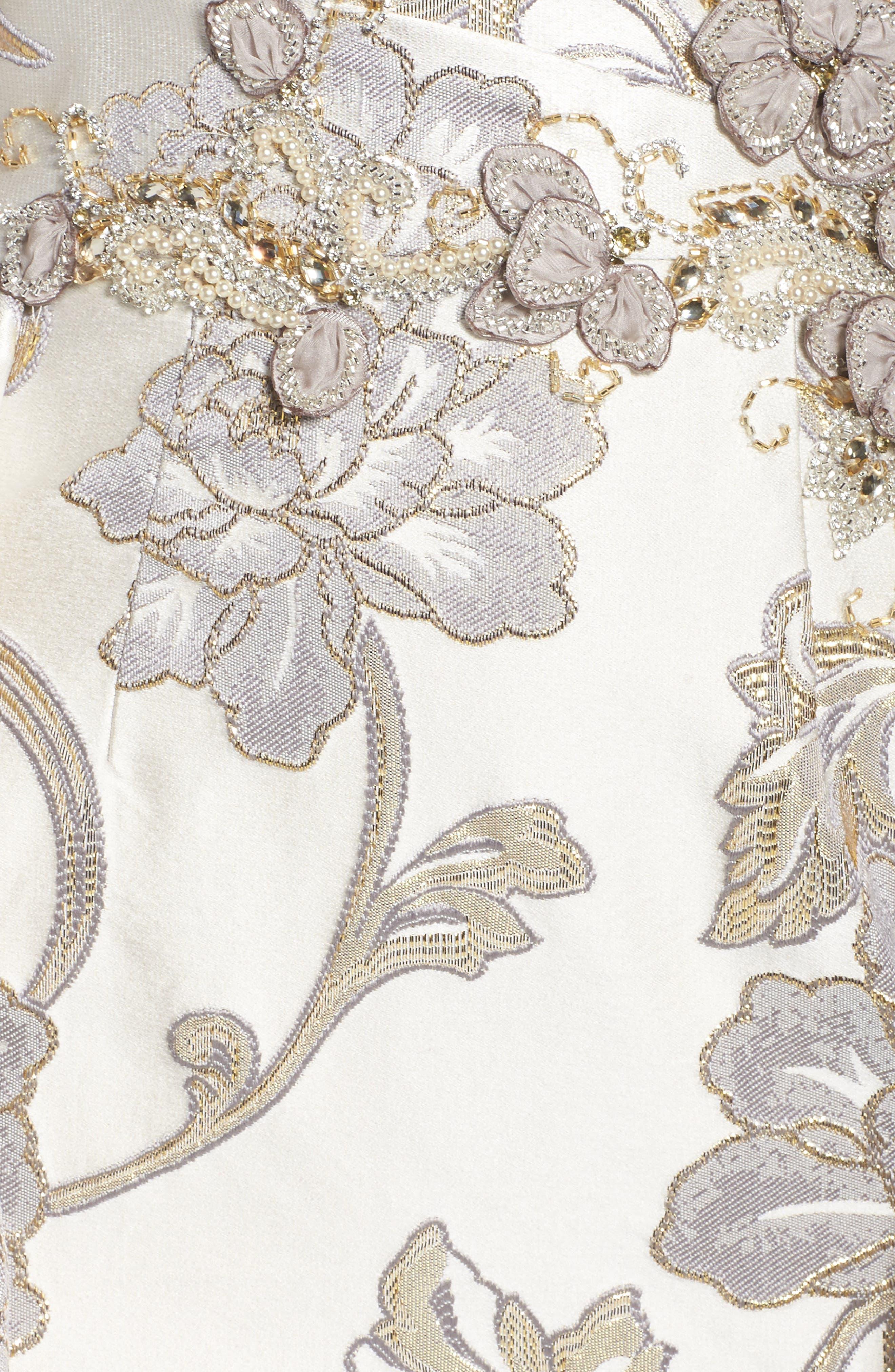 Alternate Image 5  - Mac Duggal Metallic Brocade Gown