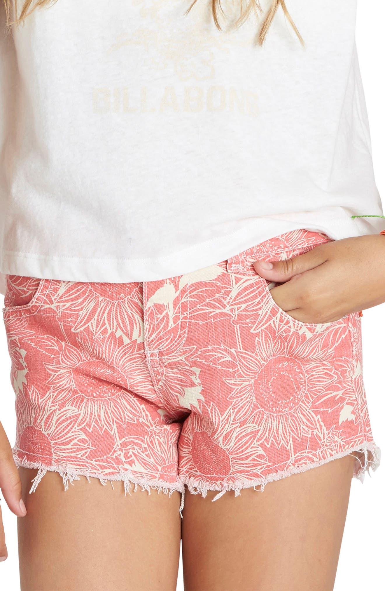 Billabong Sun Soul Printed Denim Shorts (Little Girls & Big Girls)