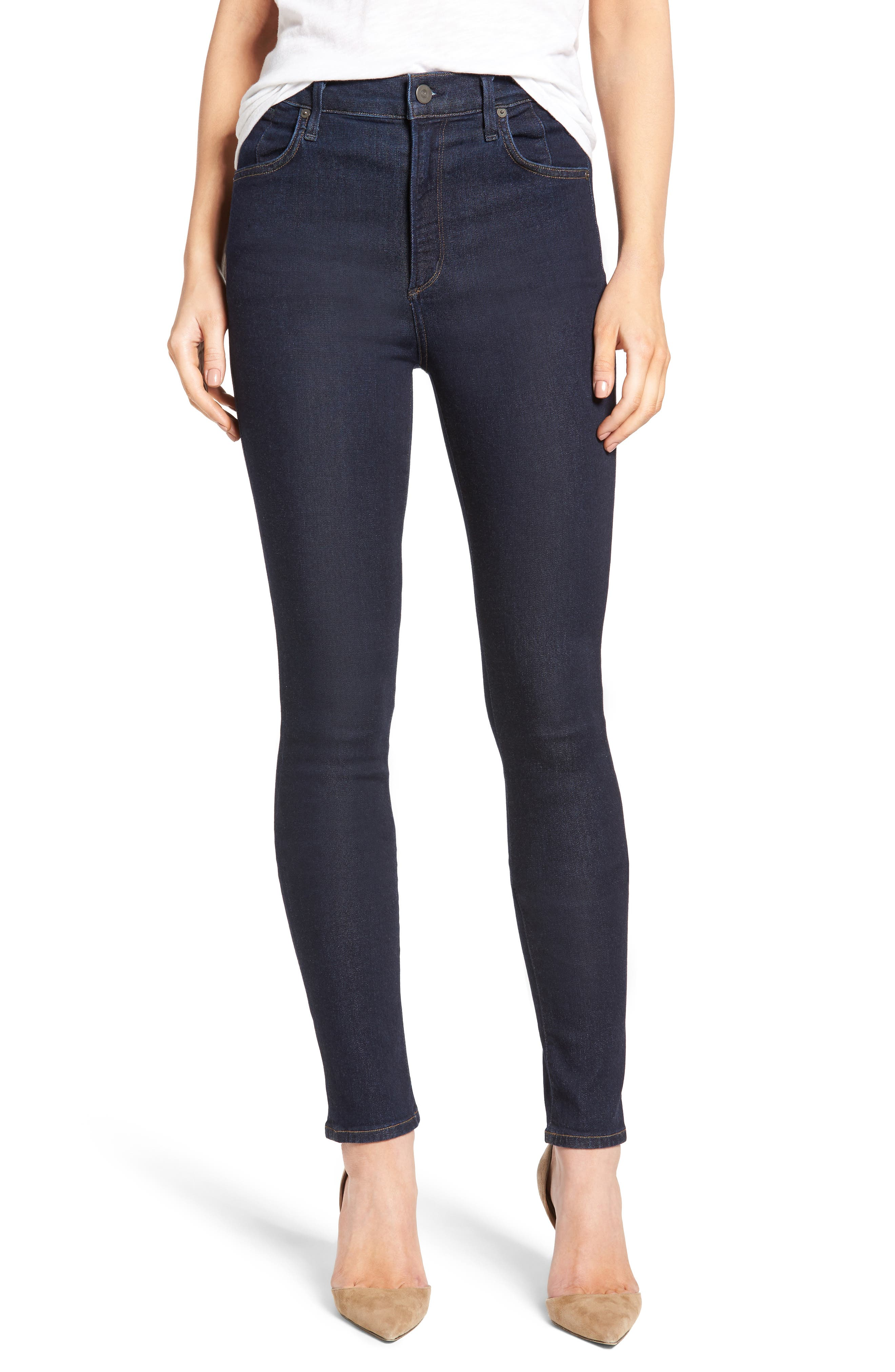 Alternate Image 1 Selected - Citizens of Humanity Carlie High Waist Skinny Jeans (Ozone Rinse)