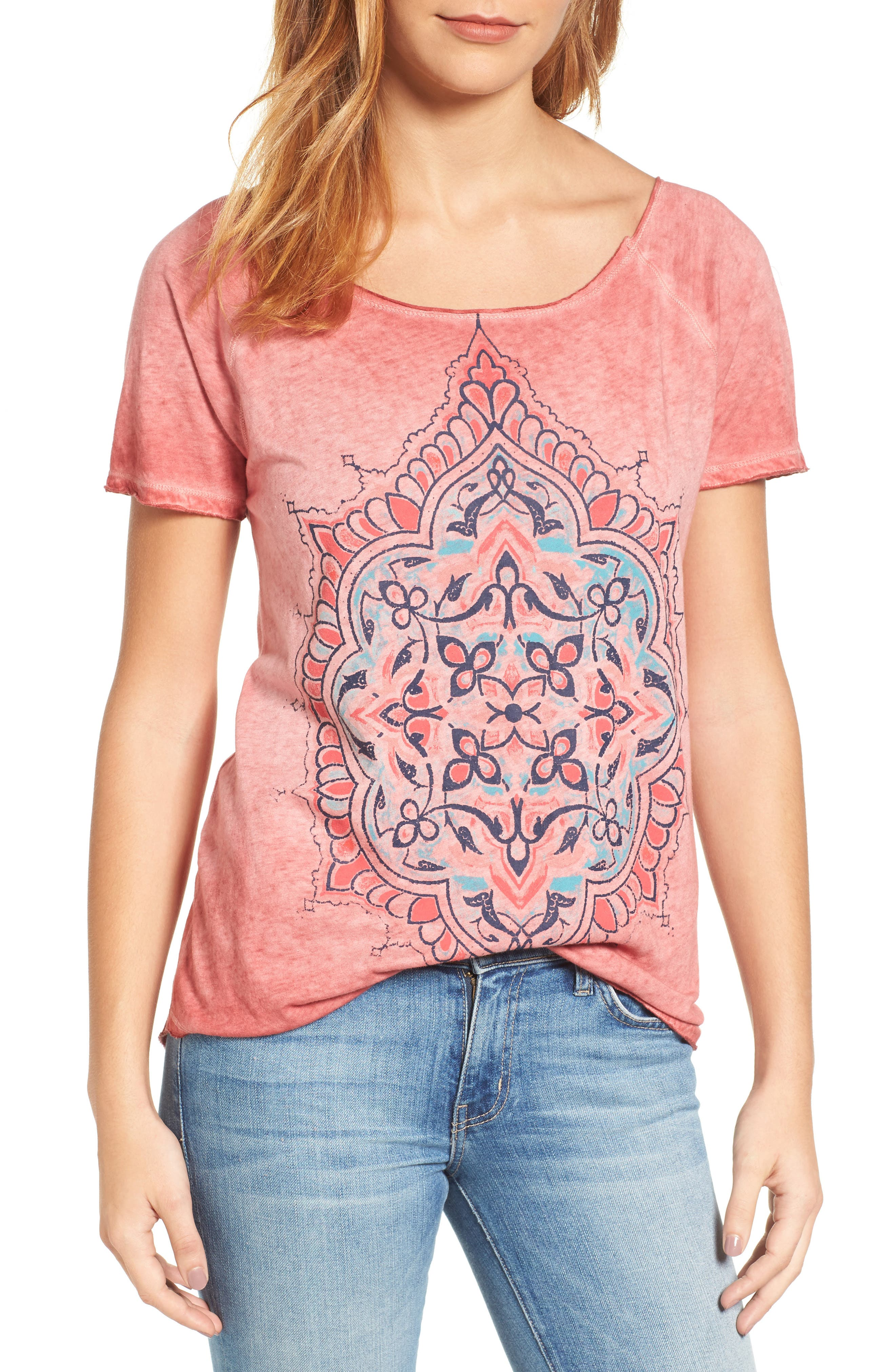 Lucky Brand Geo Floral Tee
