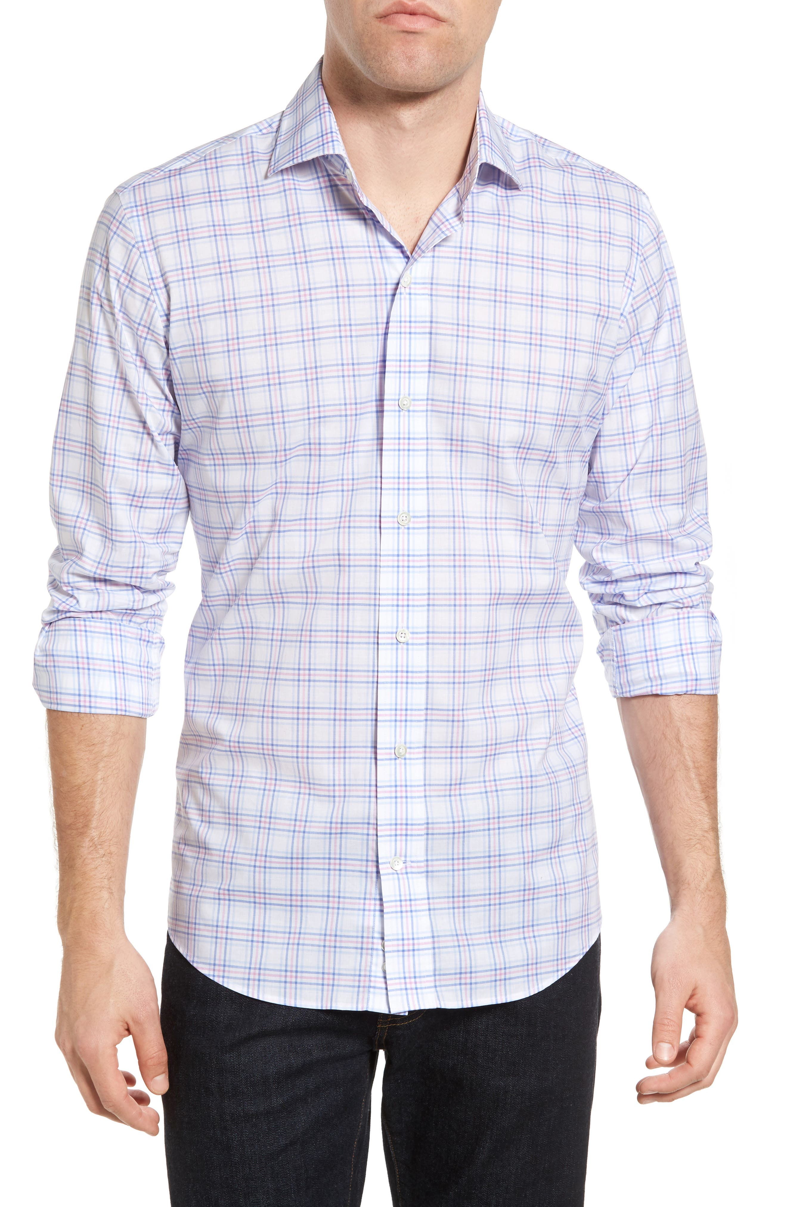 Ledbury The Mabry Slim Fit Check Sport Shirt