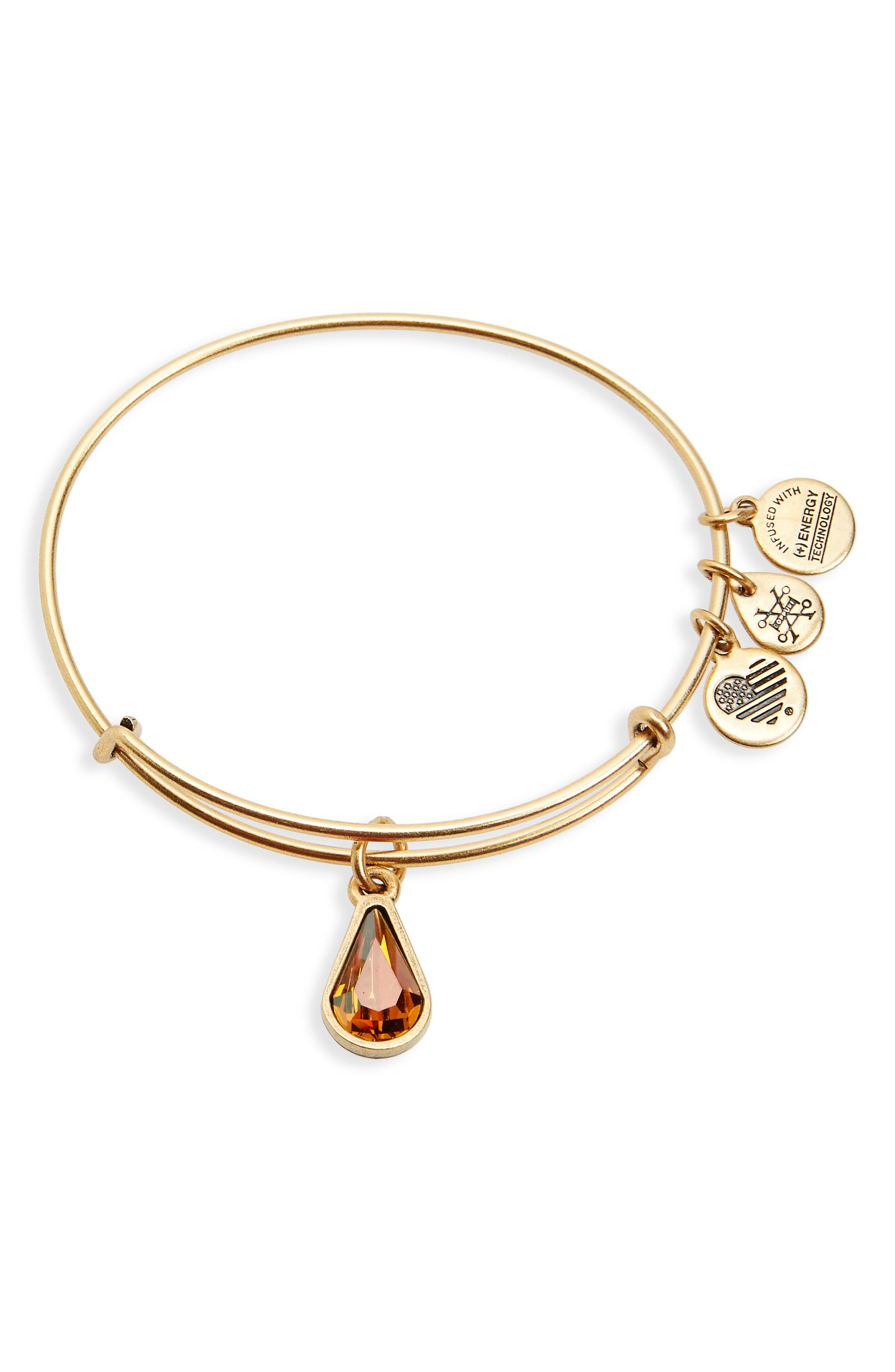 Alex and Ani Birthstone Expandable Wire Bangle with Swarovski Crystal