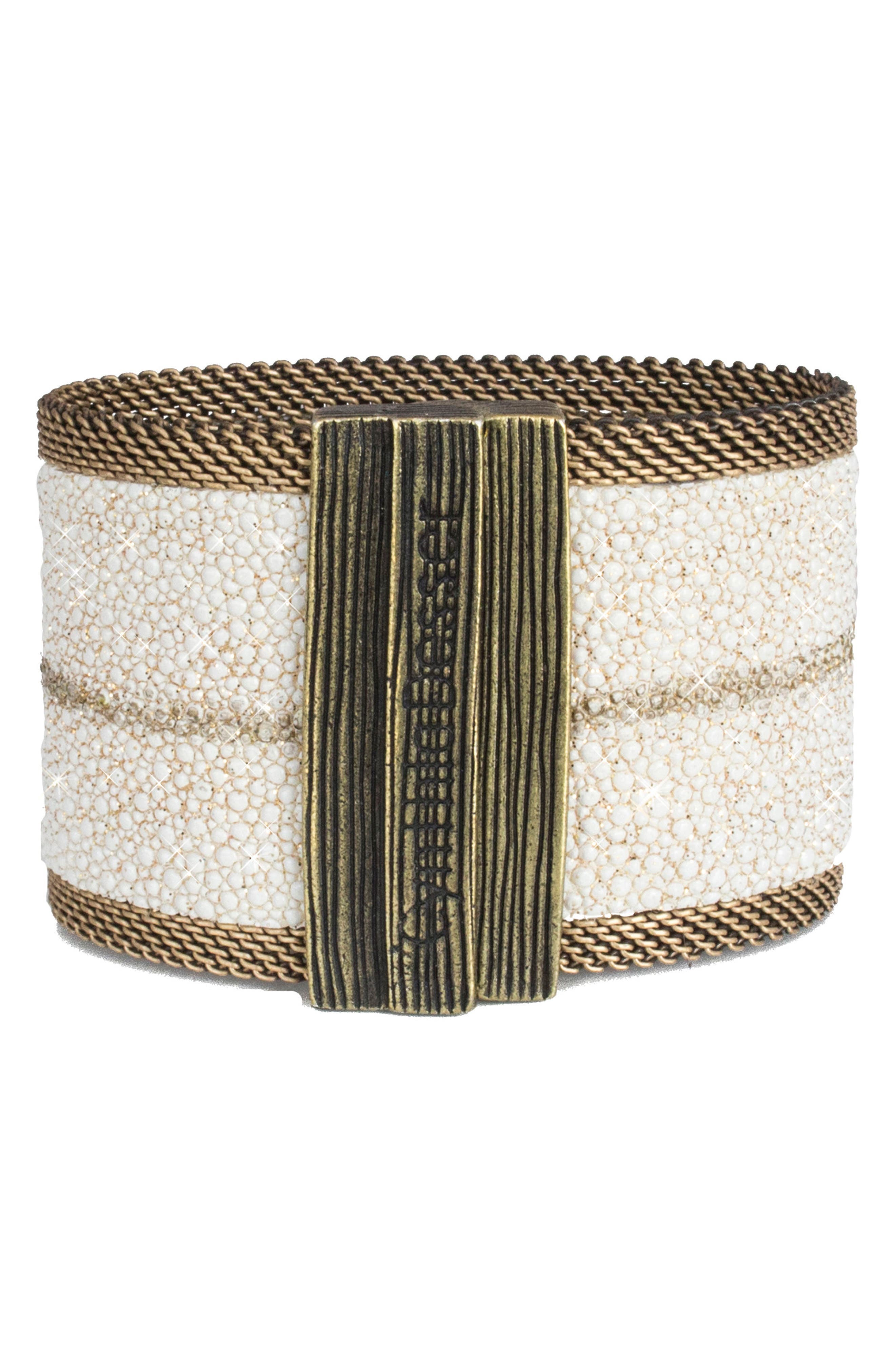 Alternate Image 2  - Cynthia Desser Genuine Stingray Skin Bracelet