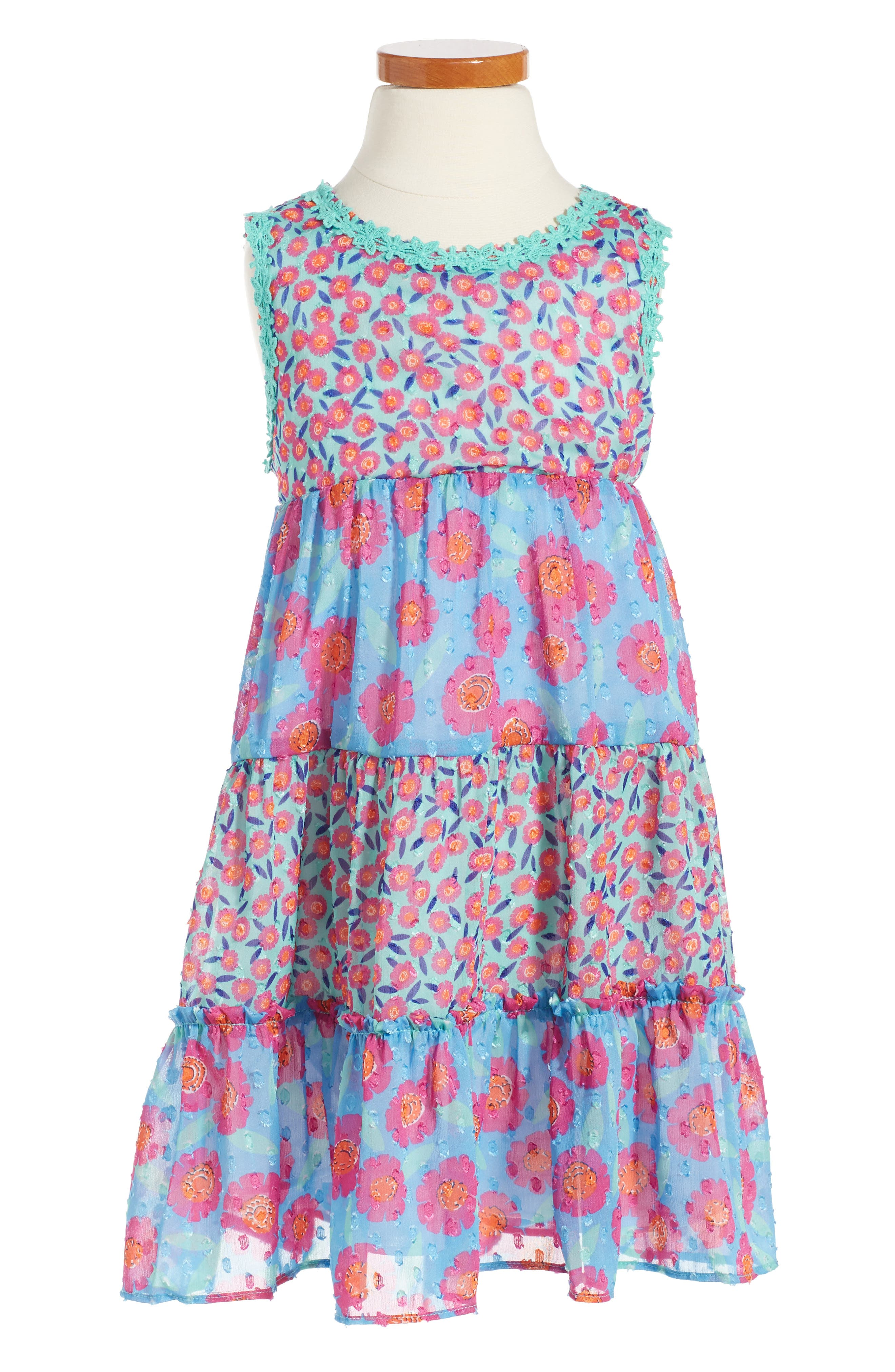 kate spade new york floral tiered dress (Toddler Girls & Little Girls)