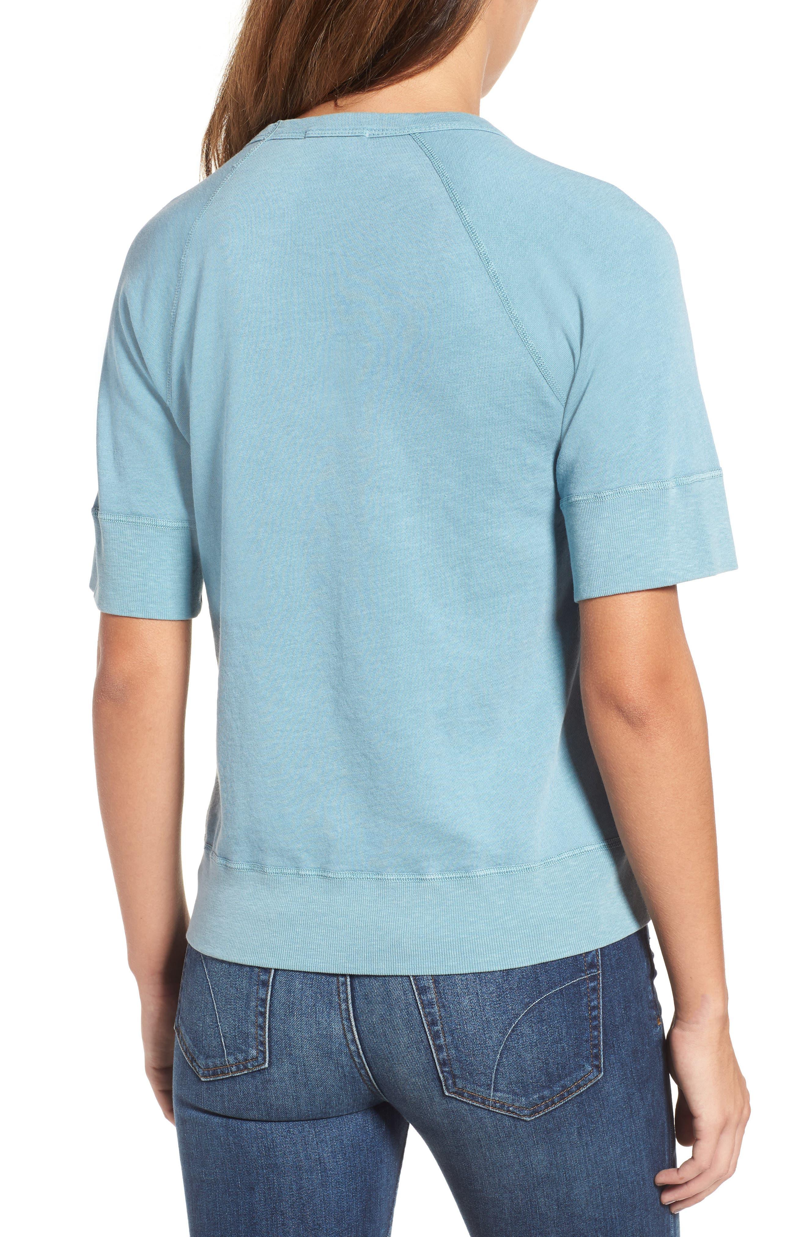 Alternate Image 2  - James Perse Raglan Sleeve Cotton Pullover