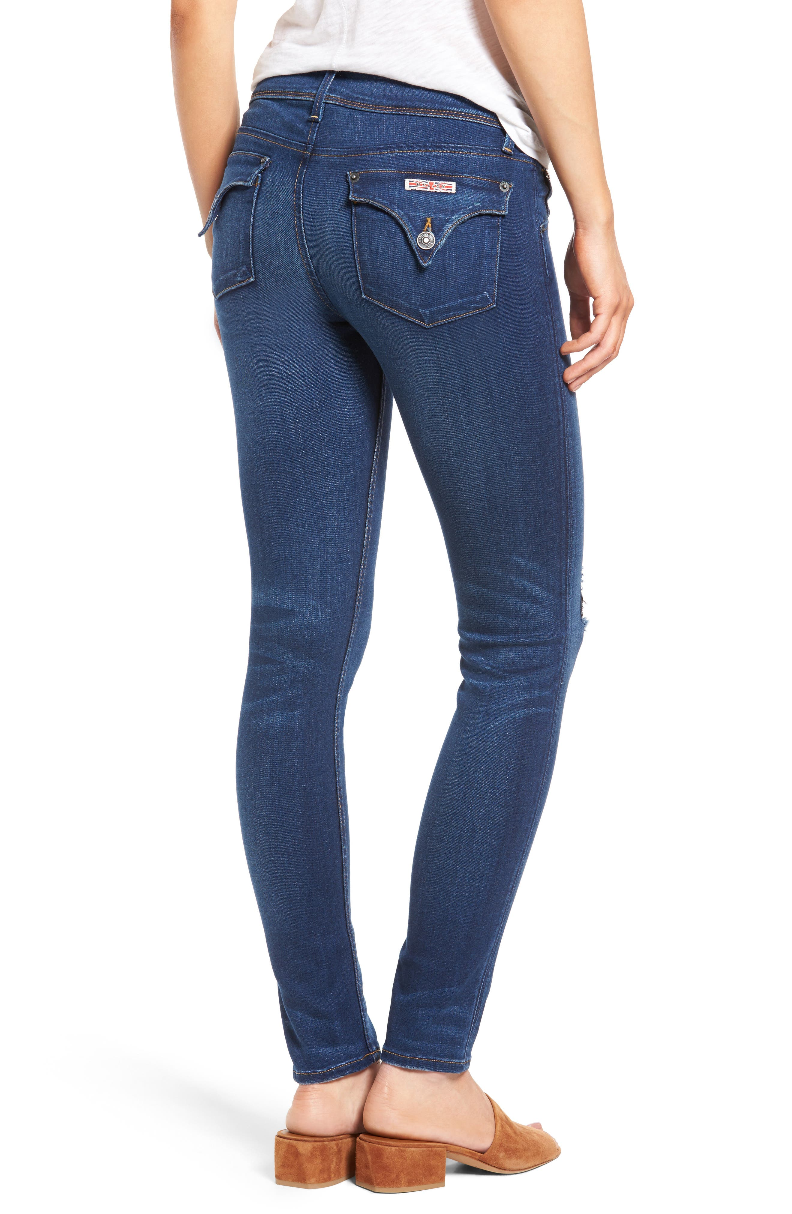Alternate Image 2  - Hudson Jeans 'Elysian - Collin' Mid Rise Skinny Jeans (Authentic)