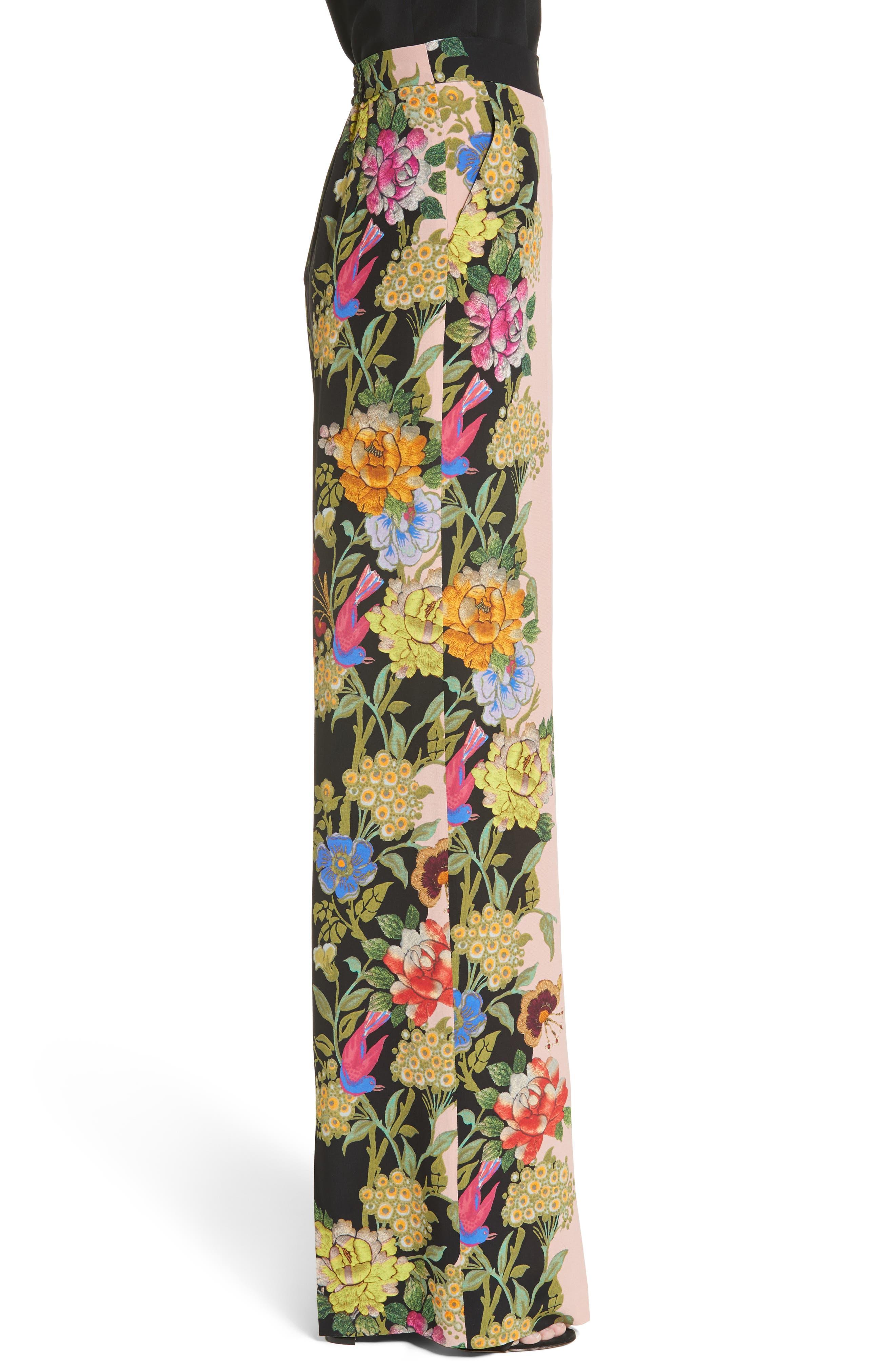 Alternate Image 5  - Etro Largo Floral Print Silk Pants
