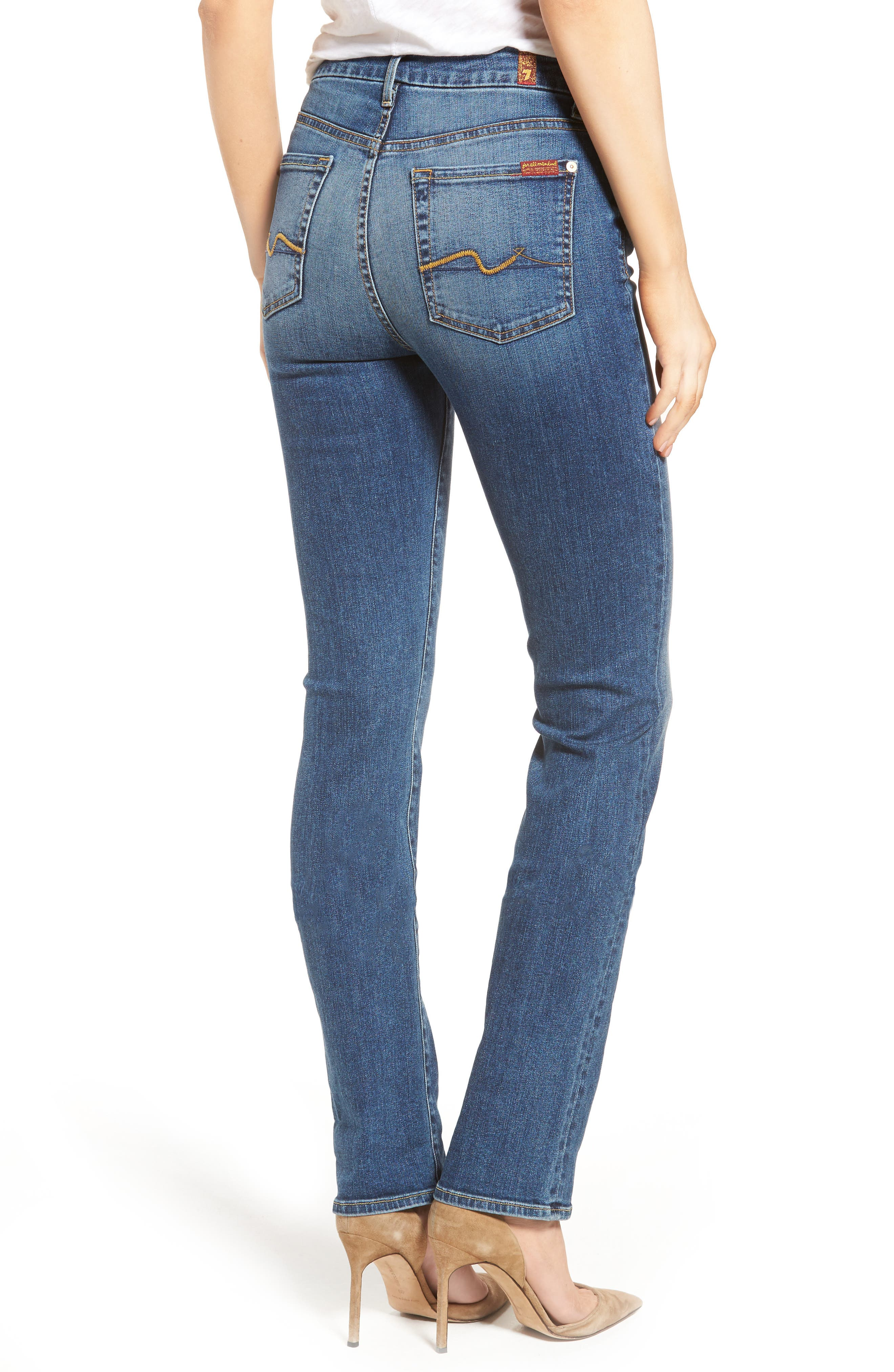 Alternate Image 2  - 7 For All Mankind® 'Kimmie' Straight Leg Jeans (Seratoga Bay)