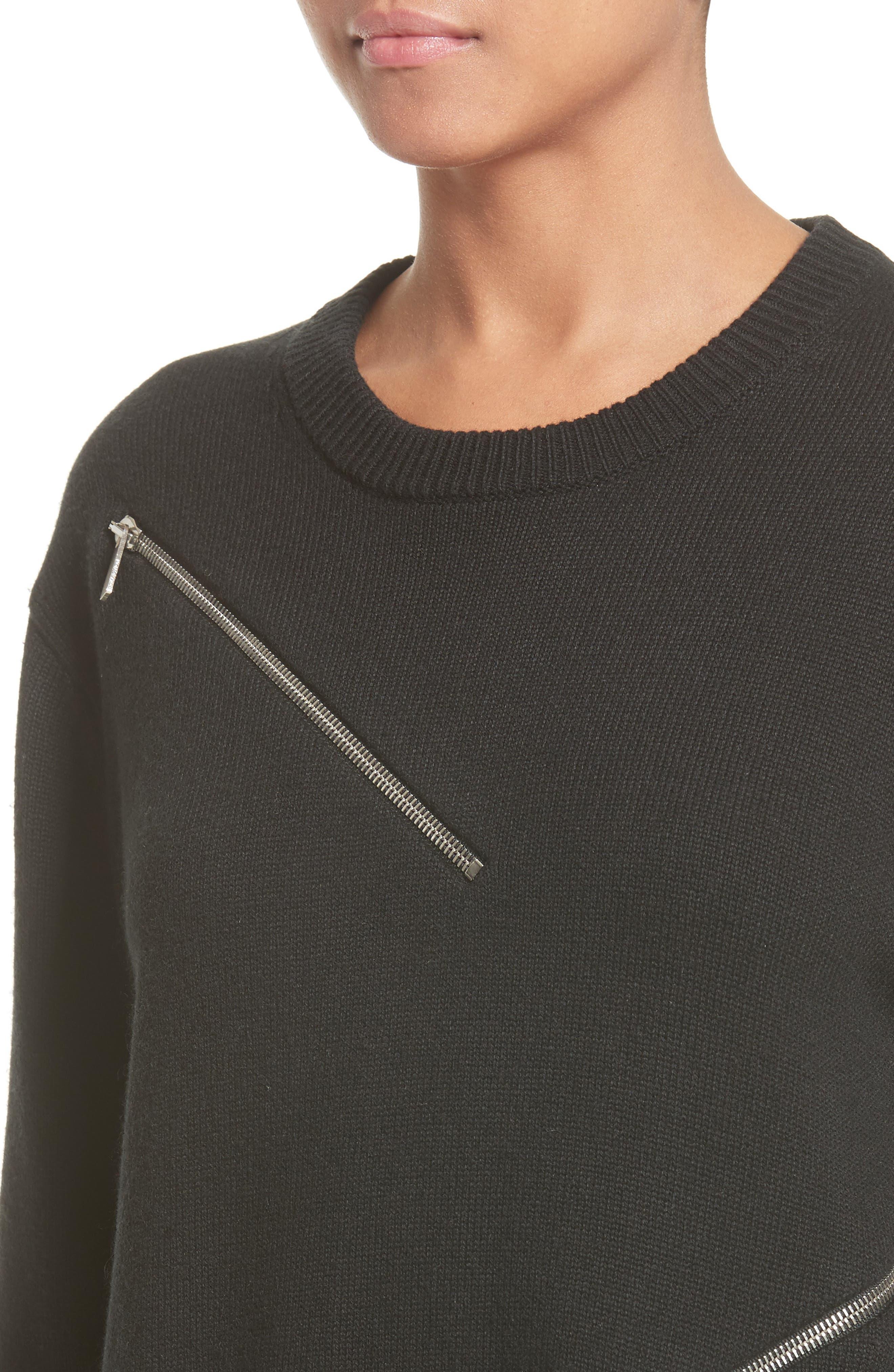 Alternate Image 6  - Michael Kors Zip Detail Cashmere & Cotton Sweater