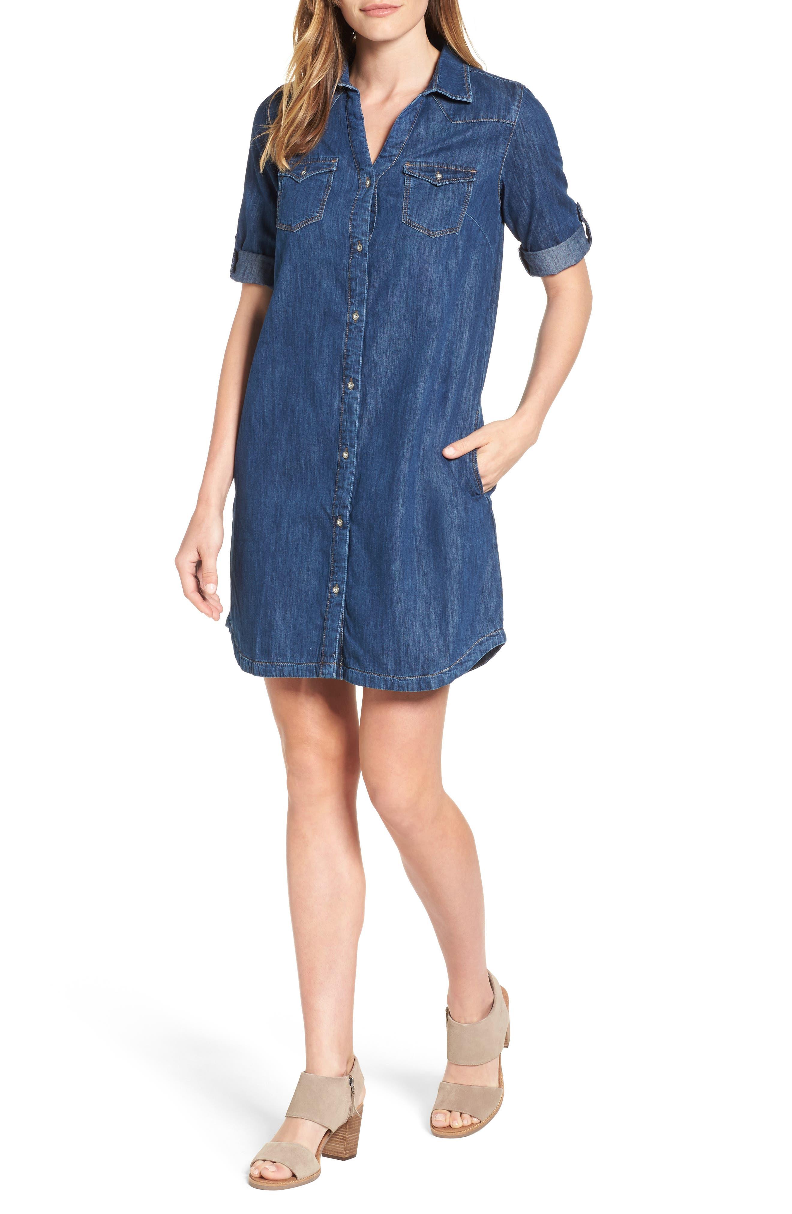 Alternate Image 1 Selected - Mavi Jeans Bree Denim Shirtdress