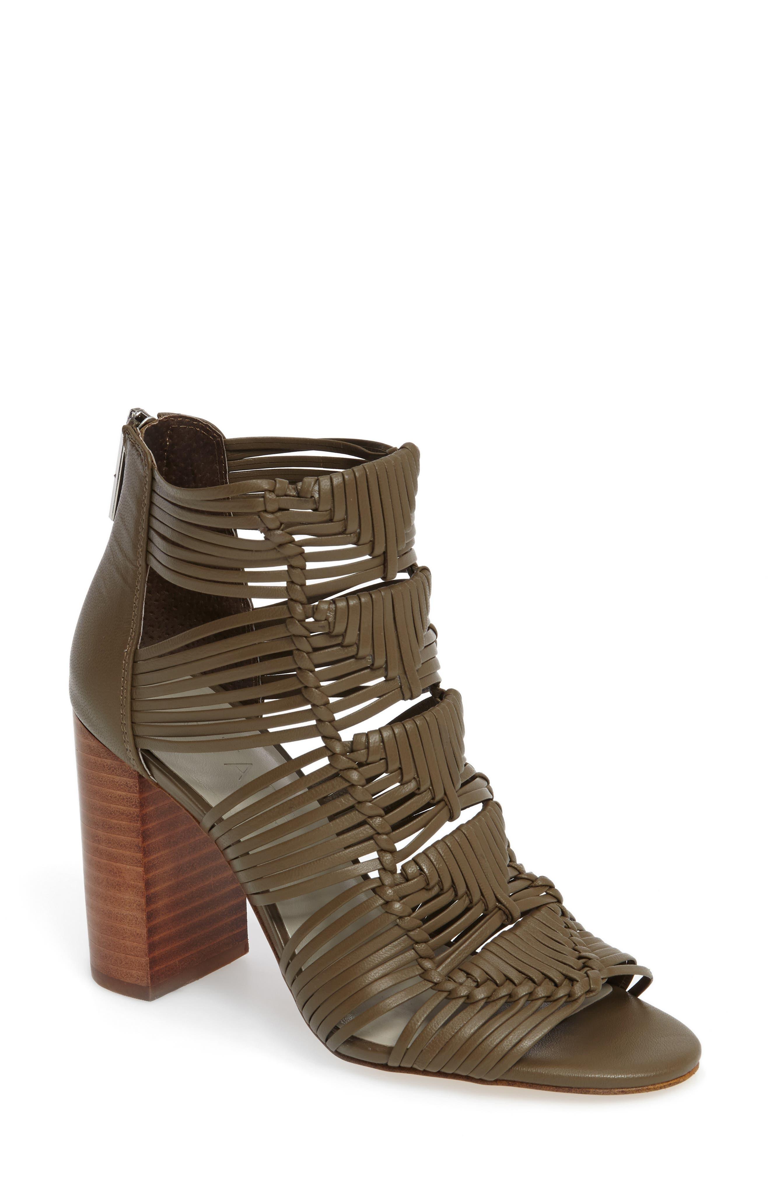 1.STATE Kenton Woven Cage Sandal (Women)