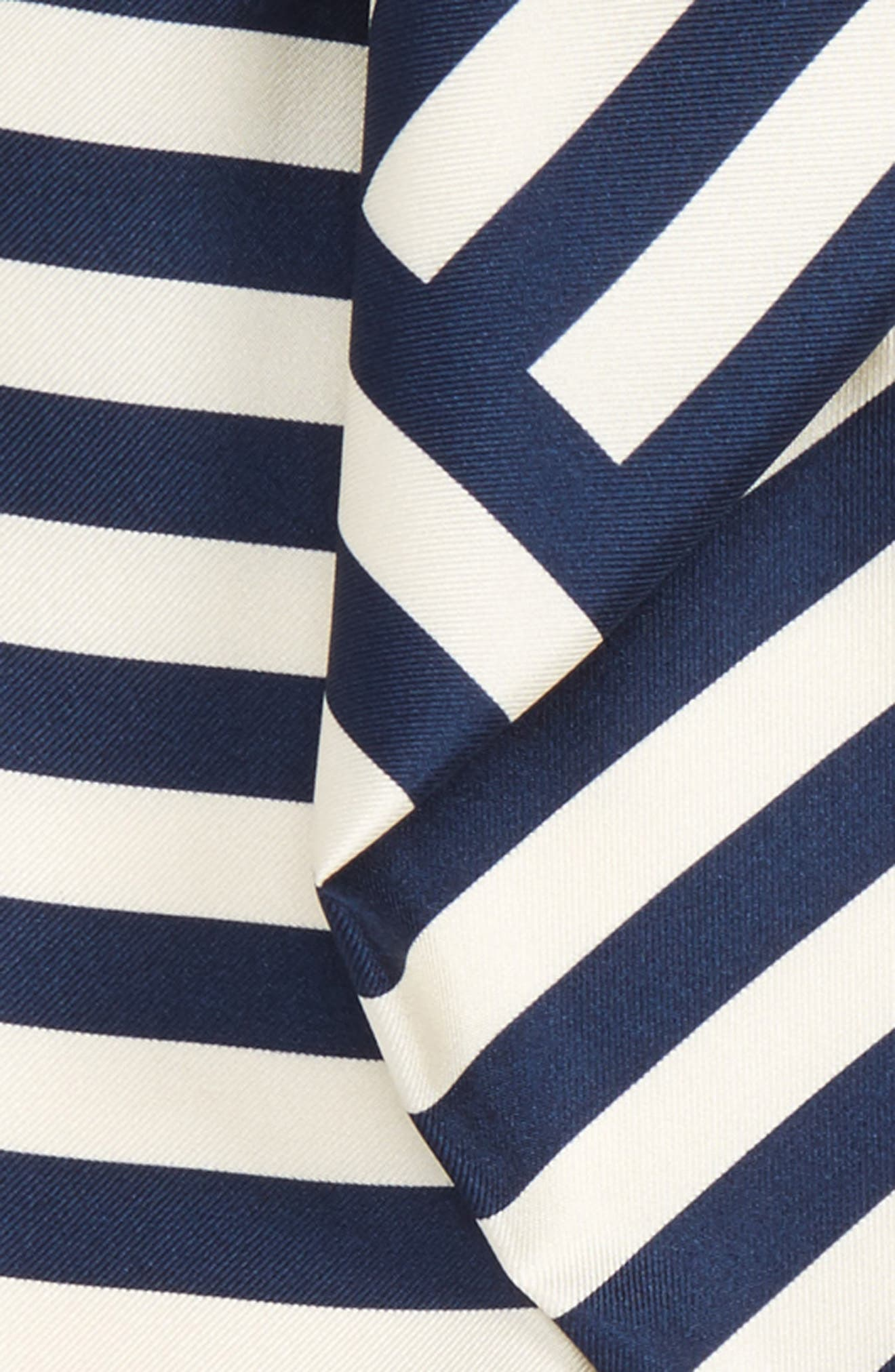 Alternate Image 3  - Burberry Stripe Silk Skinny Scarf