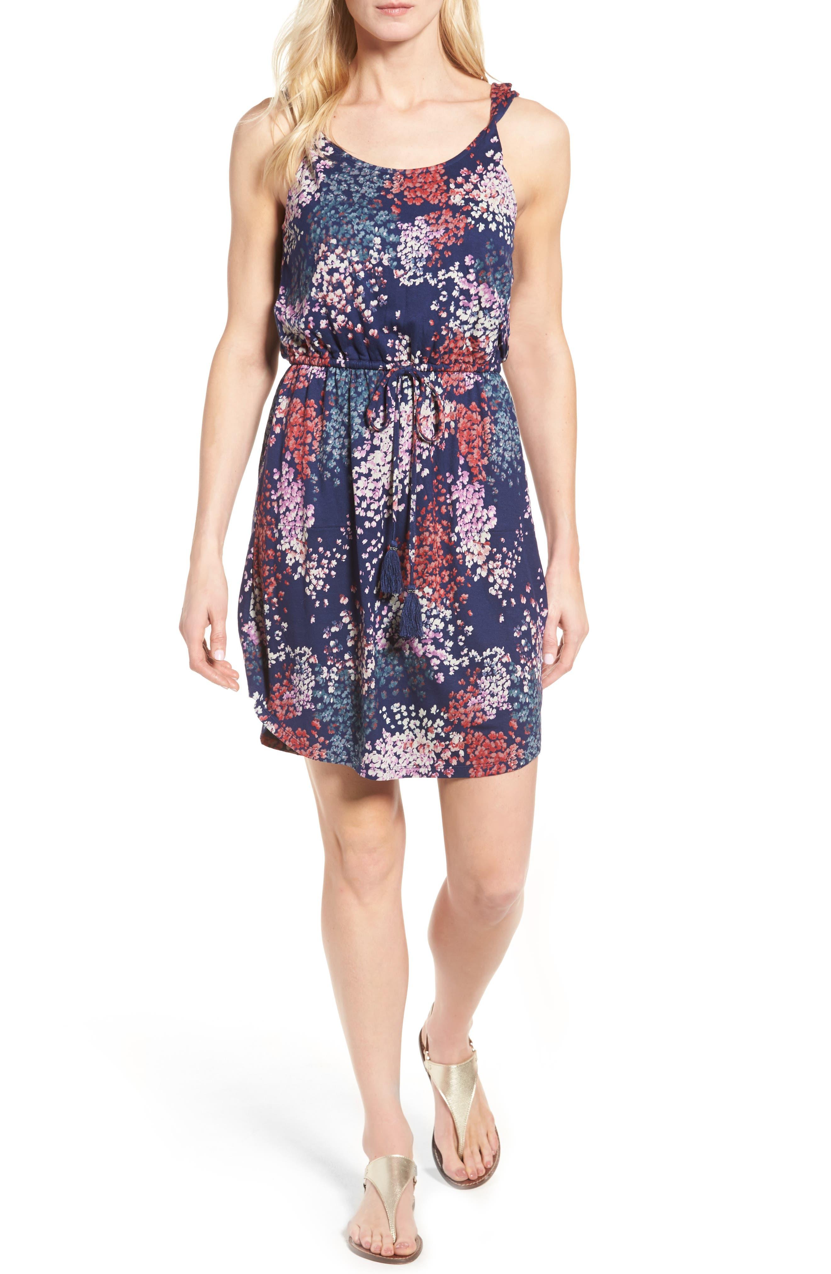Alternate Image 1 Selected - Lucky Brand Nora Drawstring Print Knit Dress