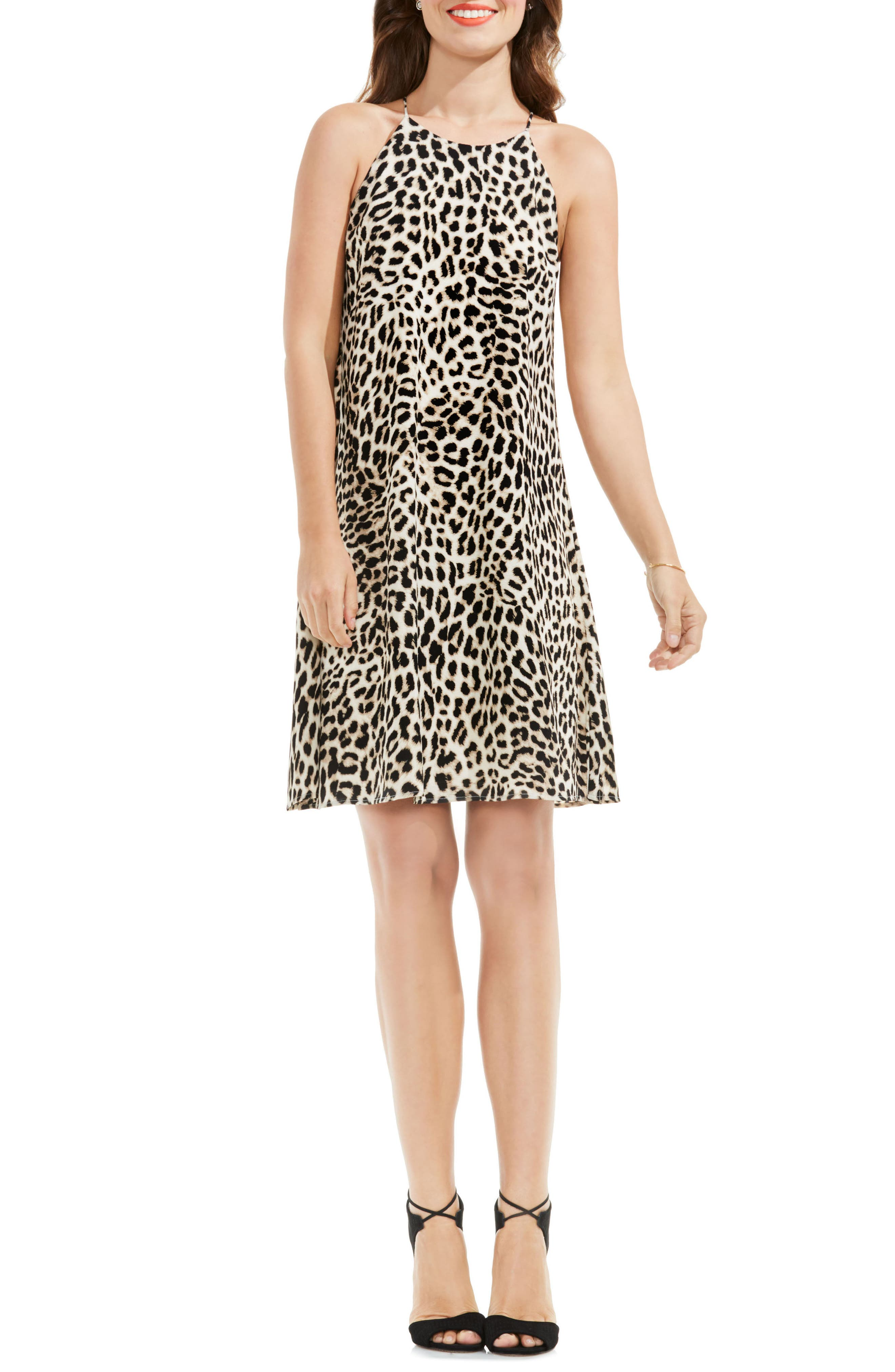 Vince Camuto Leopard Print Shift Dress