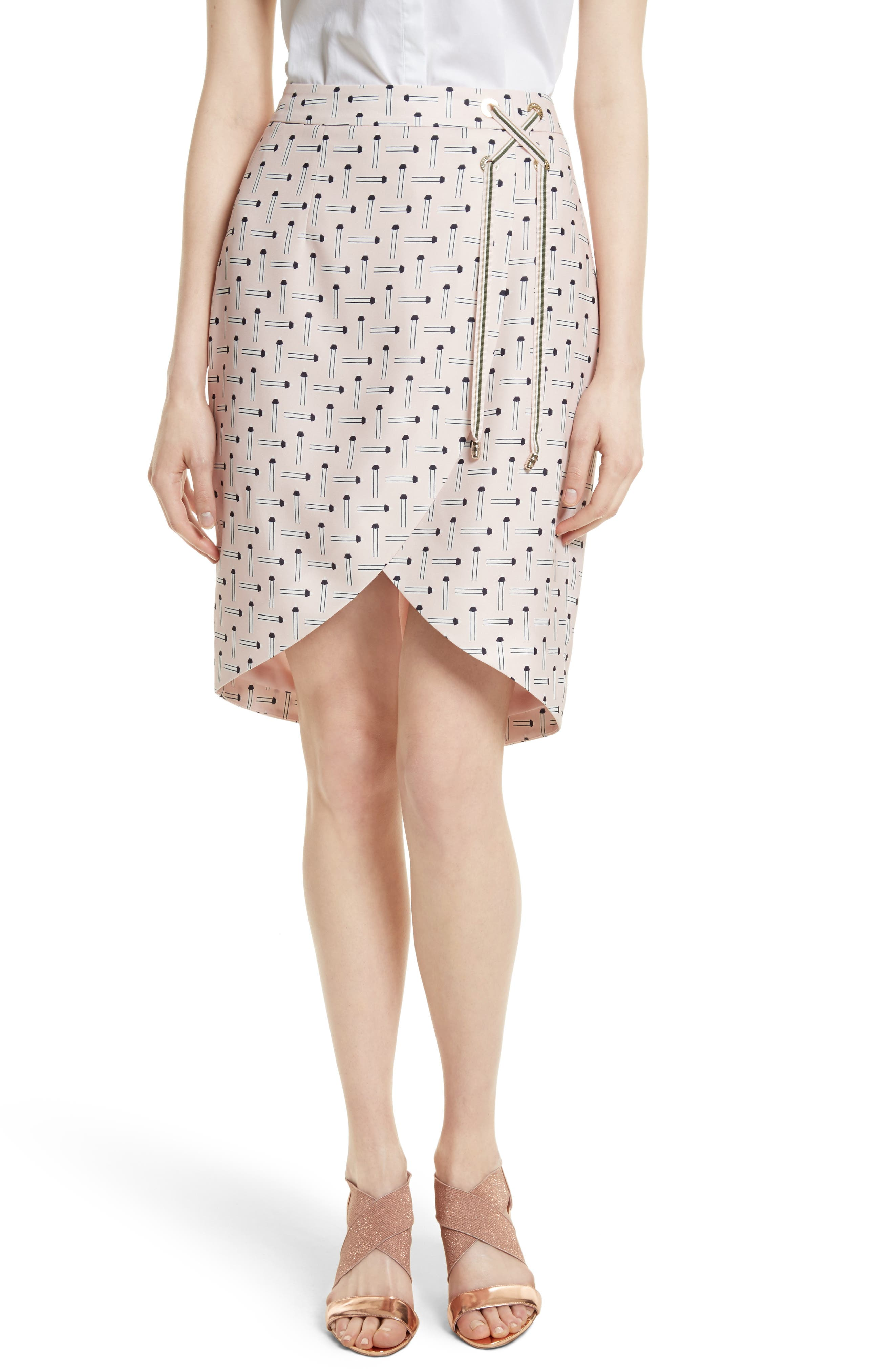 Ted Baker London Lulie Crossover Front Skirt