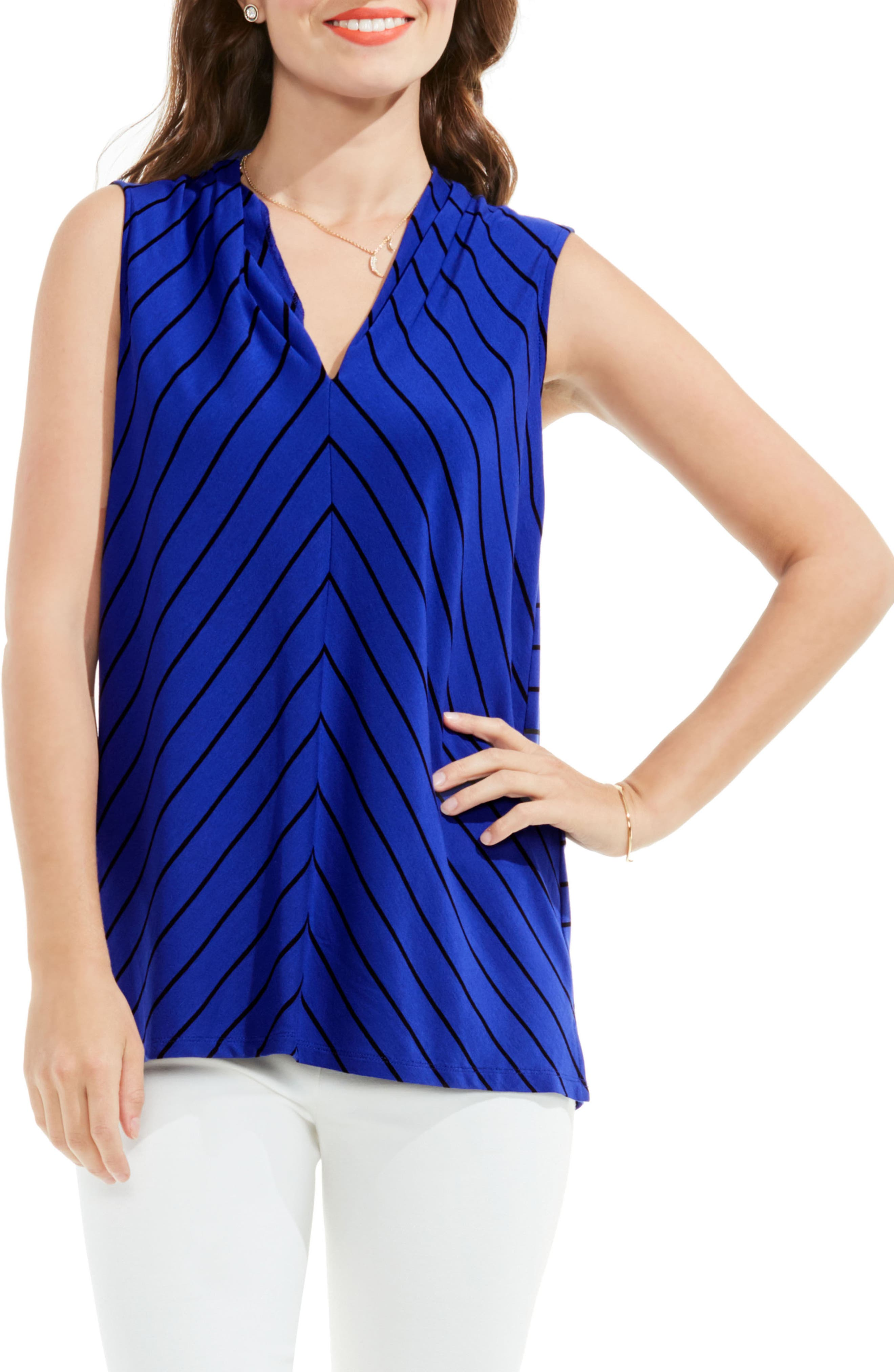 Vince Camuto Stripe Knit Top