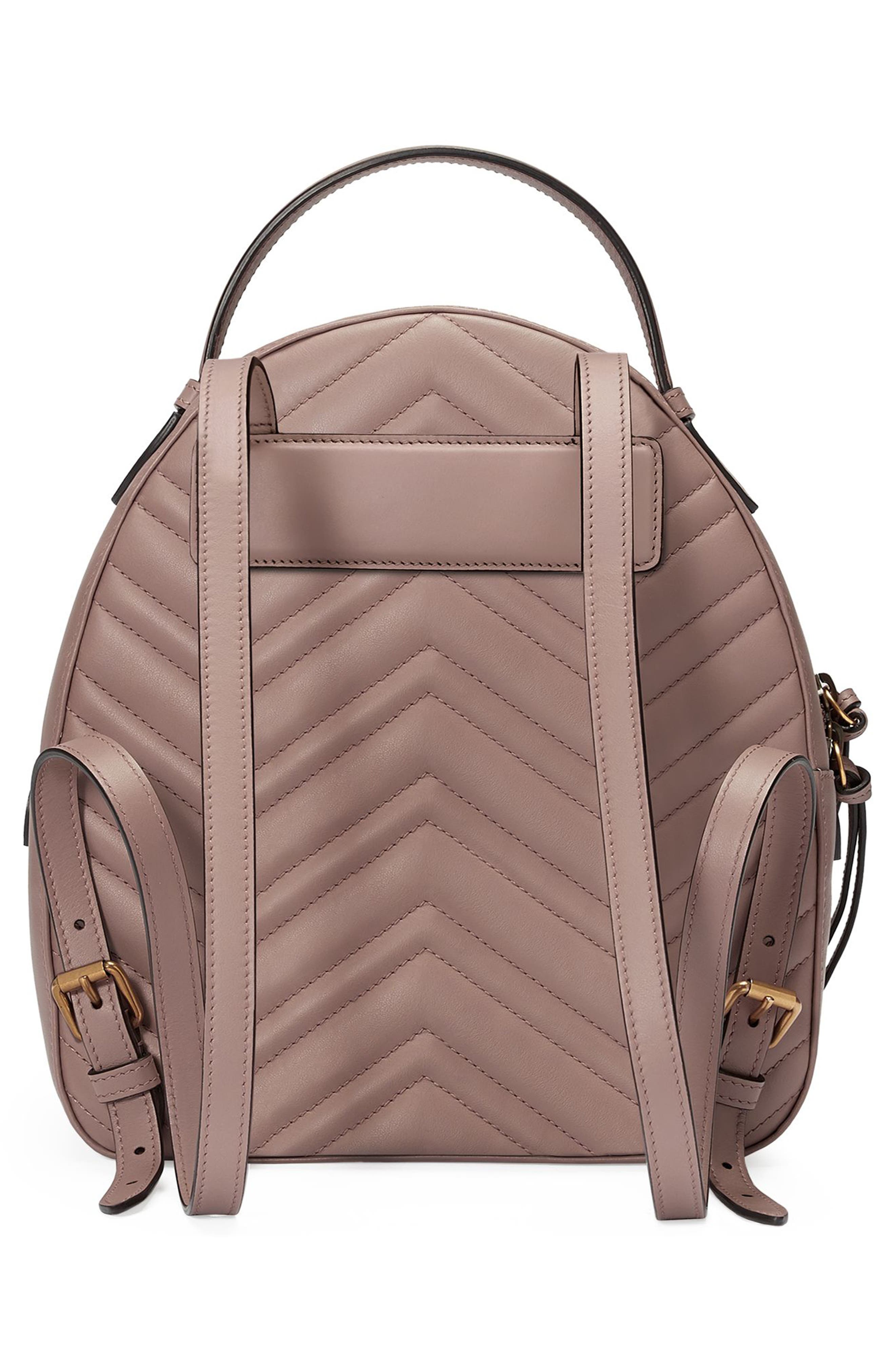 Alternate Image 2  - Gucci GG Marmont Matelassé Quilted Leather Backpack