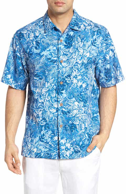 Tommy Bahama Greek Batik Silk Blend Camp Shirt