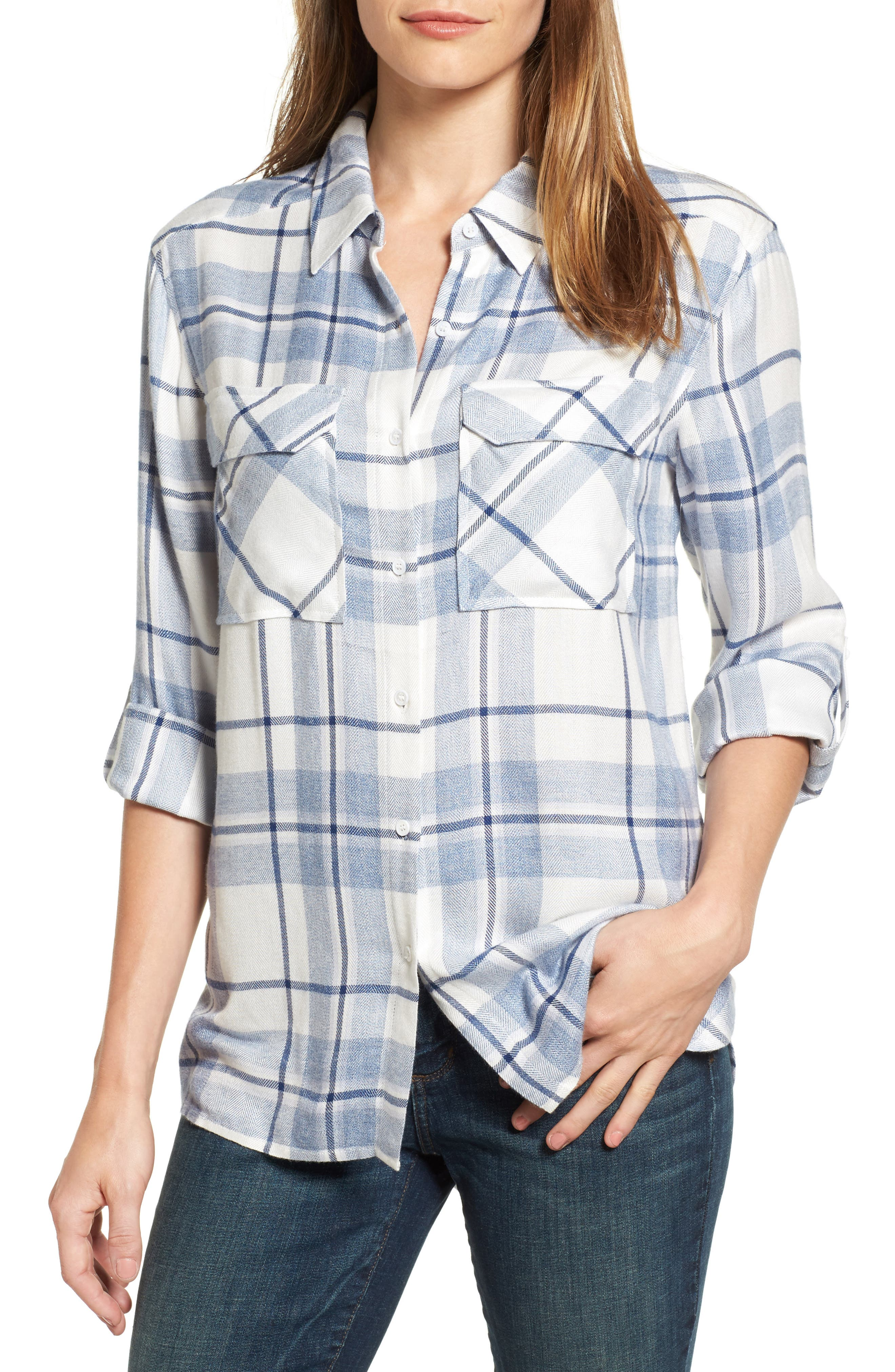 Two by Vince Camuto Heritage Plaid Shirt