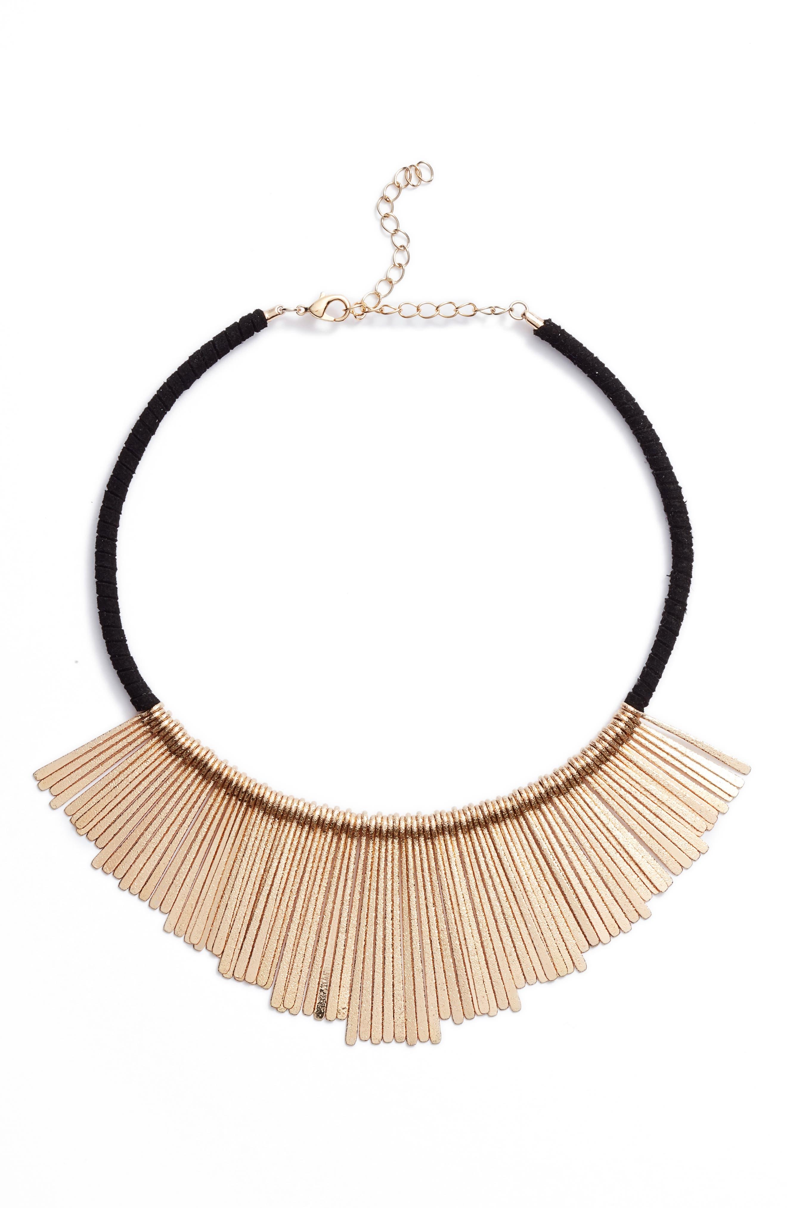Panacea Bar Charm Bib Necklace