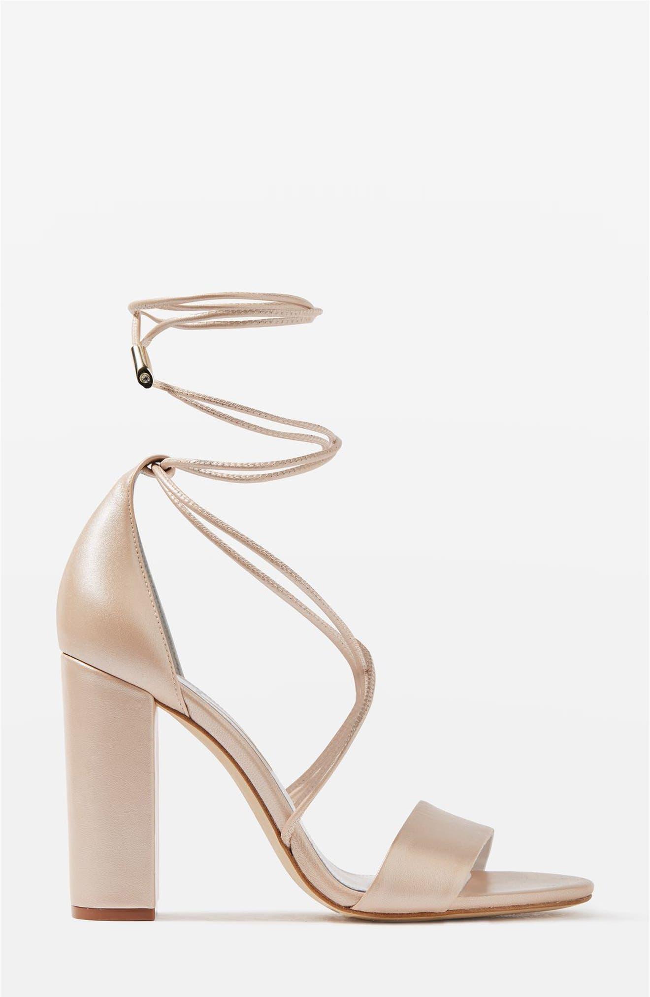 Alternate Image 1 Selected - Topshop Bride Beatrix Lace-Up Sandals (Women)
