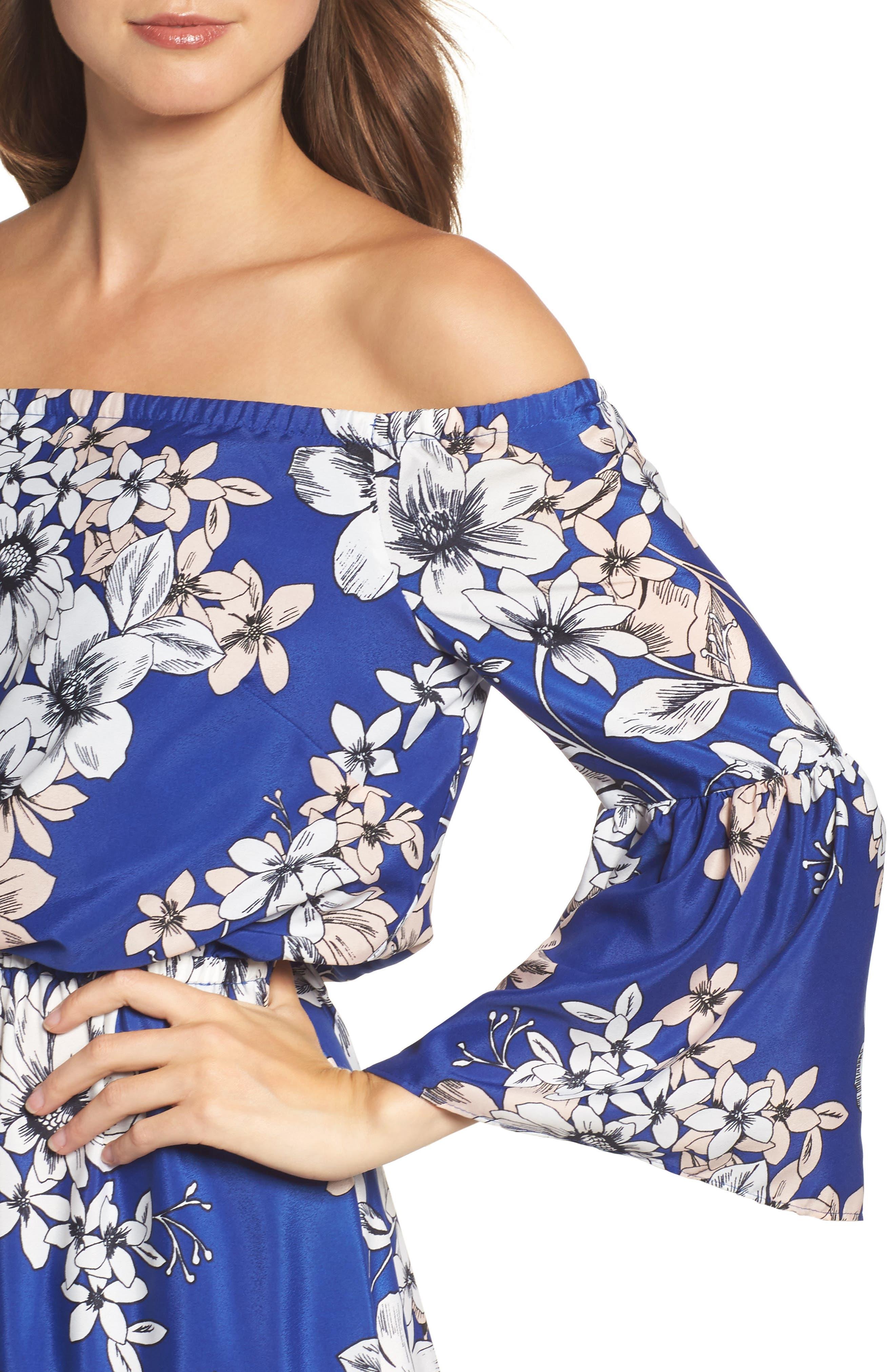 Alternate Image 4  - Eliza J Off the Shoulder Floral Maxi Dress
