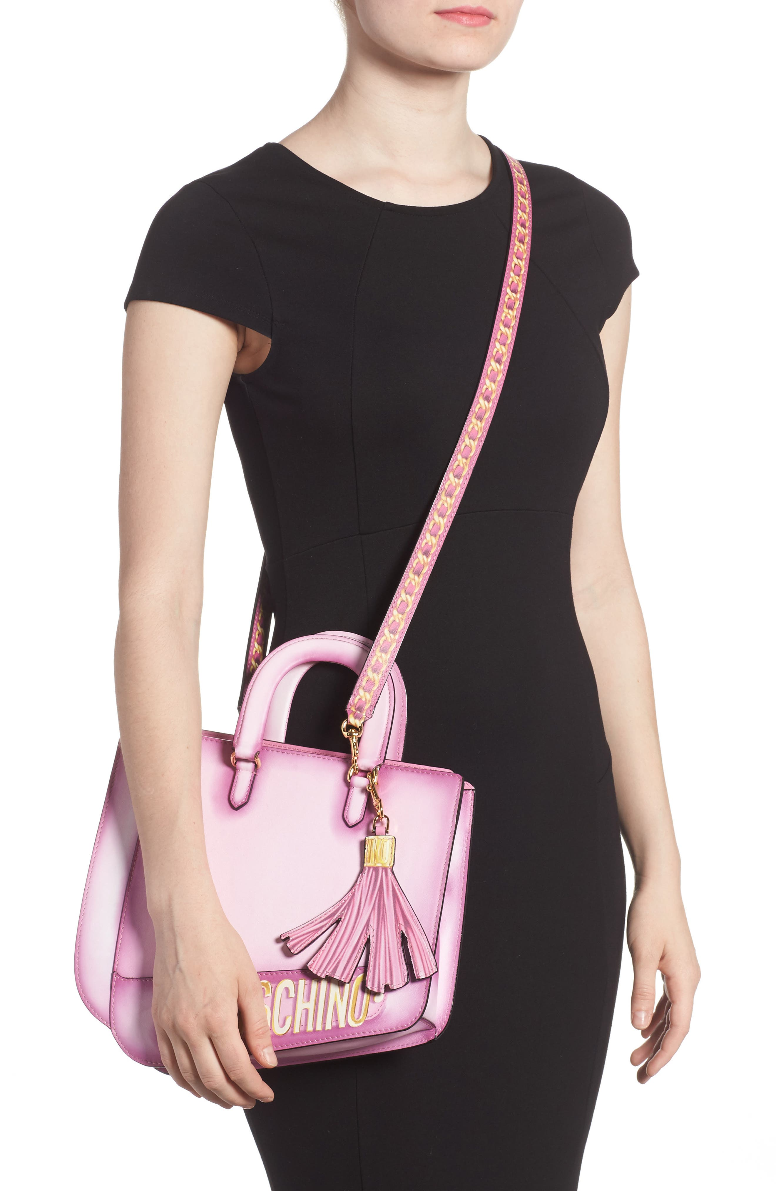 Alternate Image 2  - Moschino 2D Double Handle Leather Tote