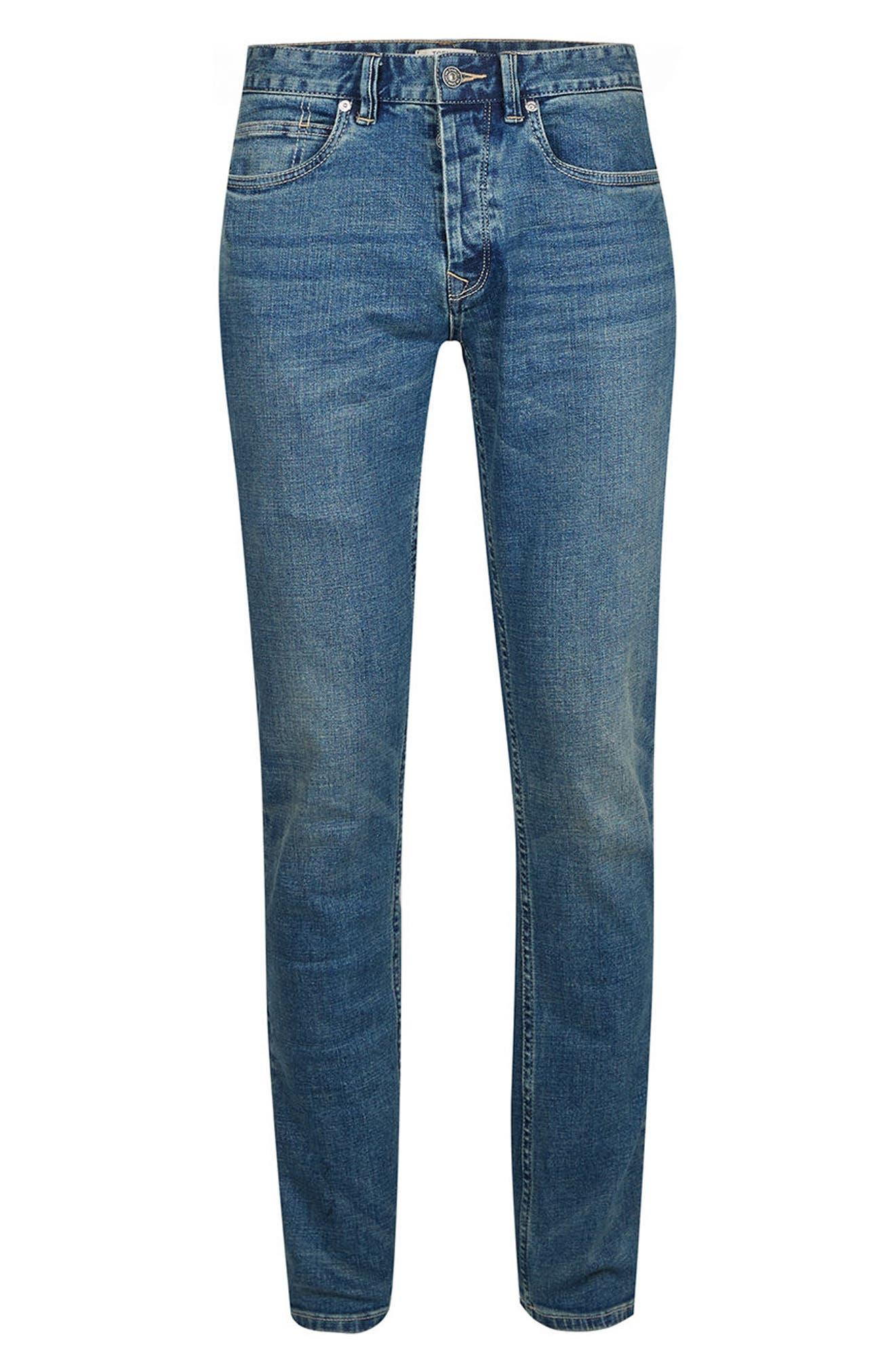 Alternate Image 5  - Topman Stretch Slim Fit Jeans