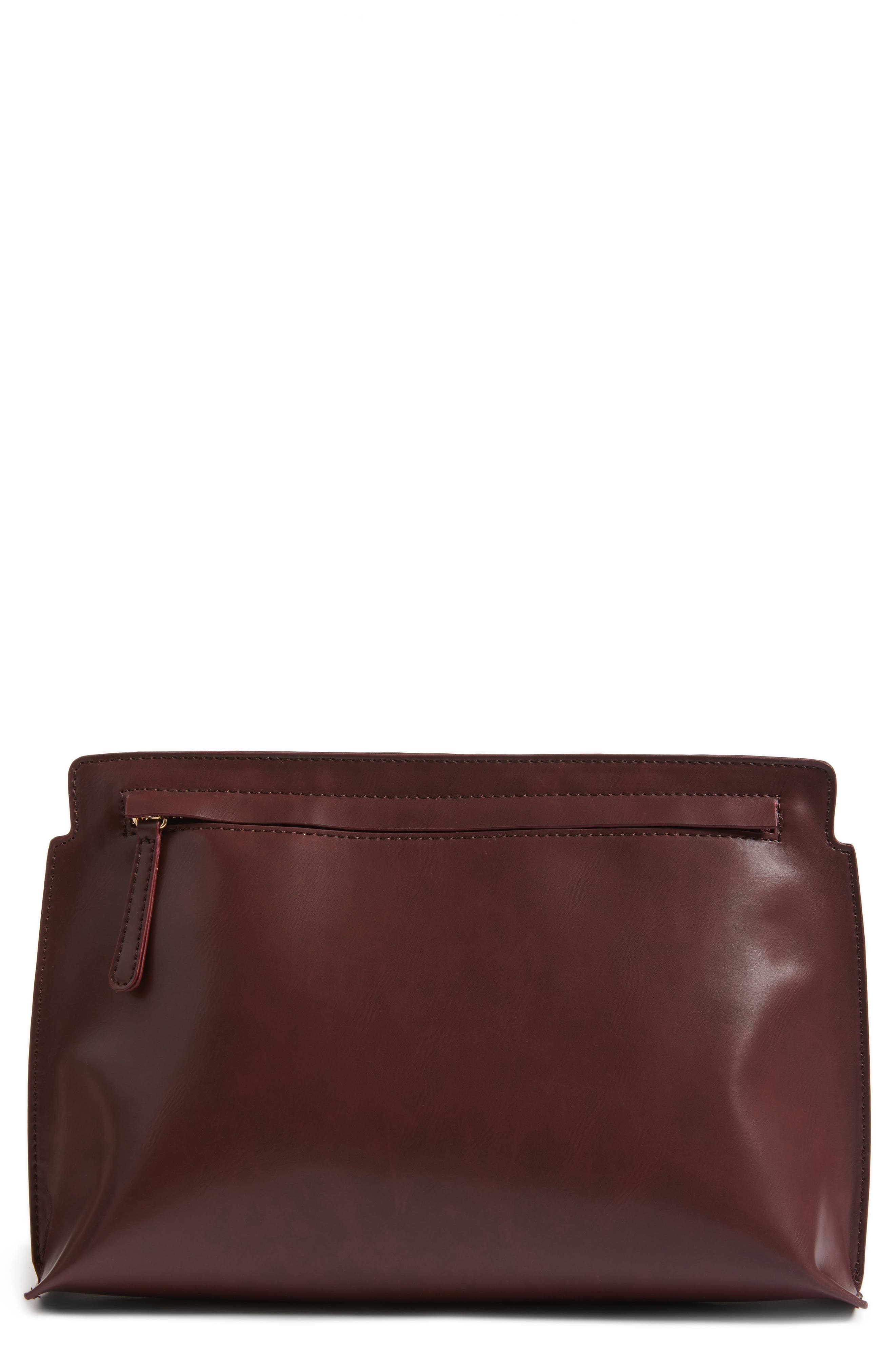 BP. Faux Leather Clutch