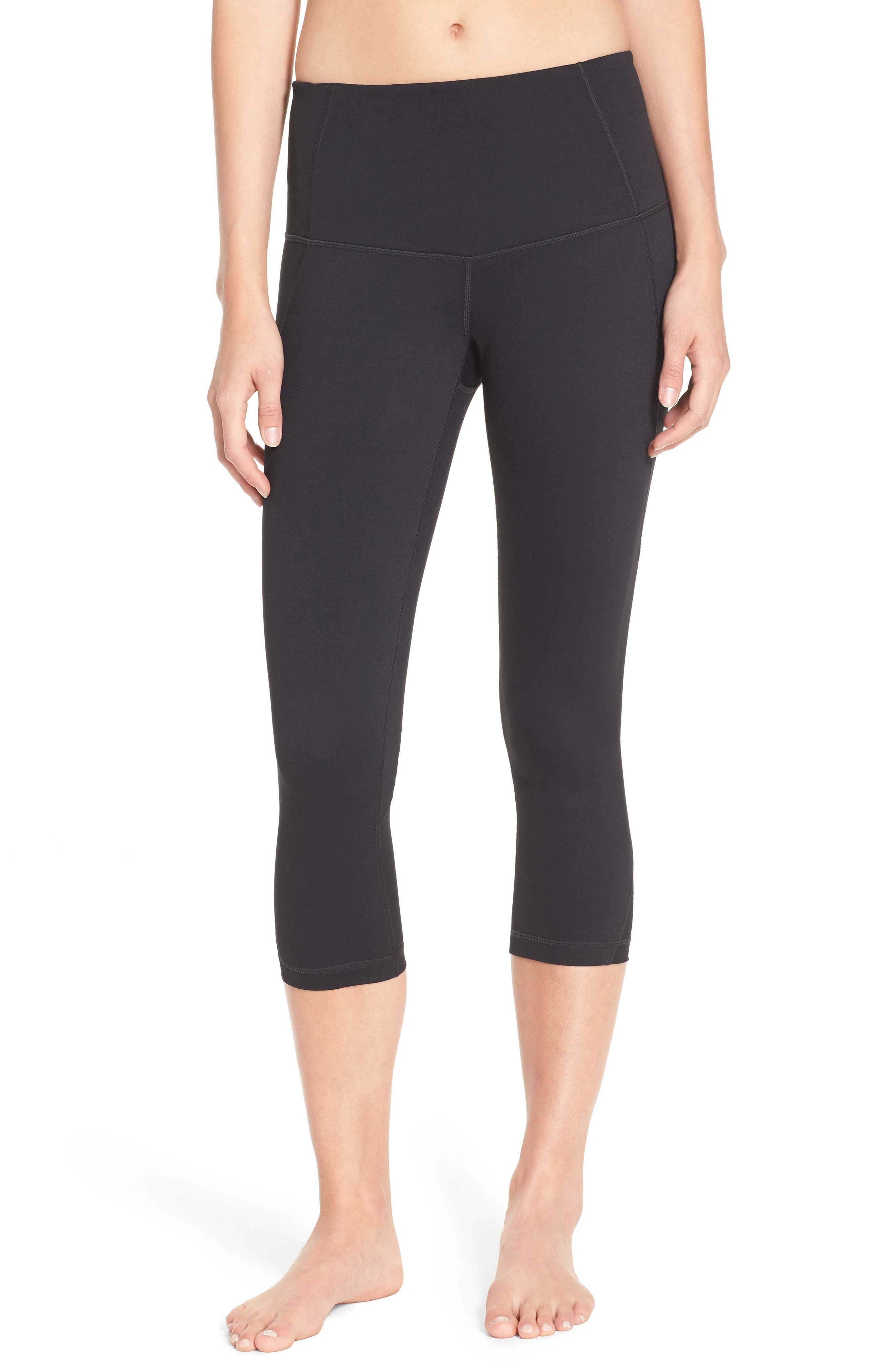 Zella 'Hatha' High Waist Crop Leggings