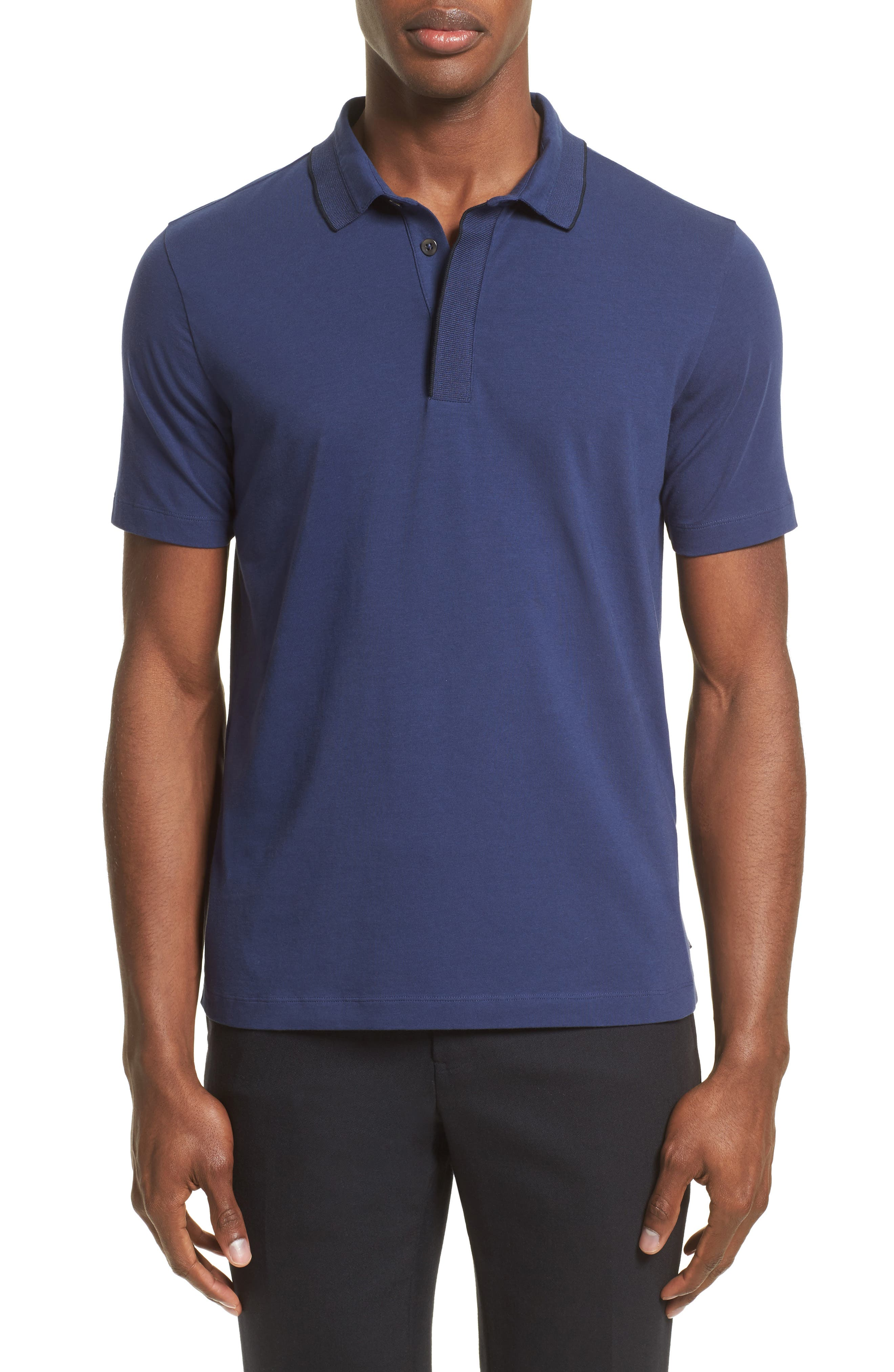 Armani Collezioni Tipped Stretch Cotton Polo