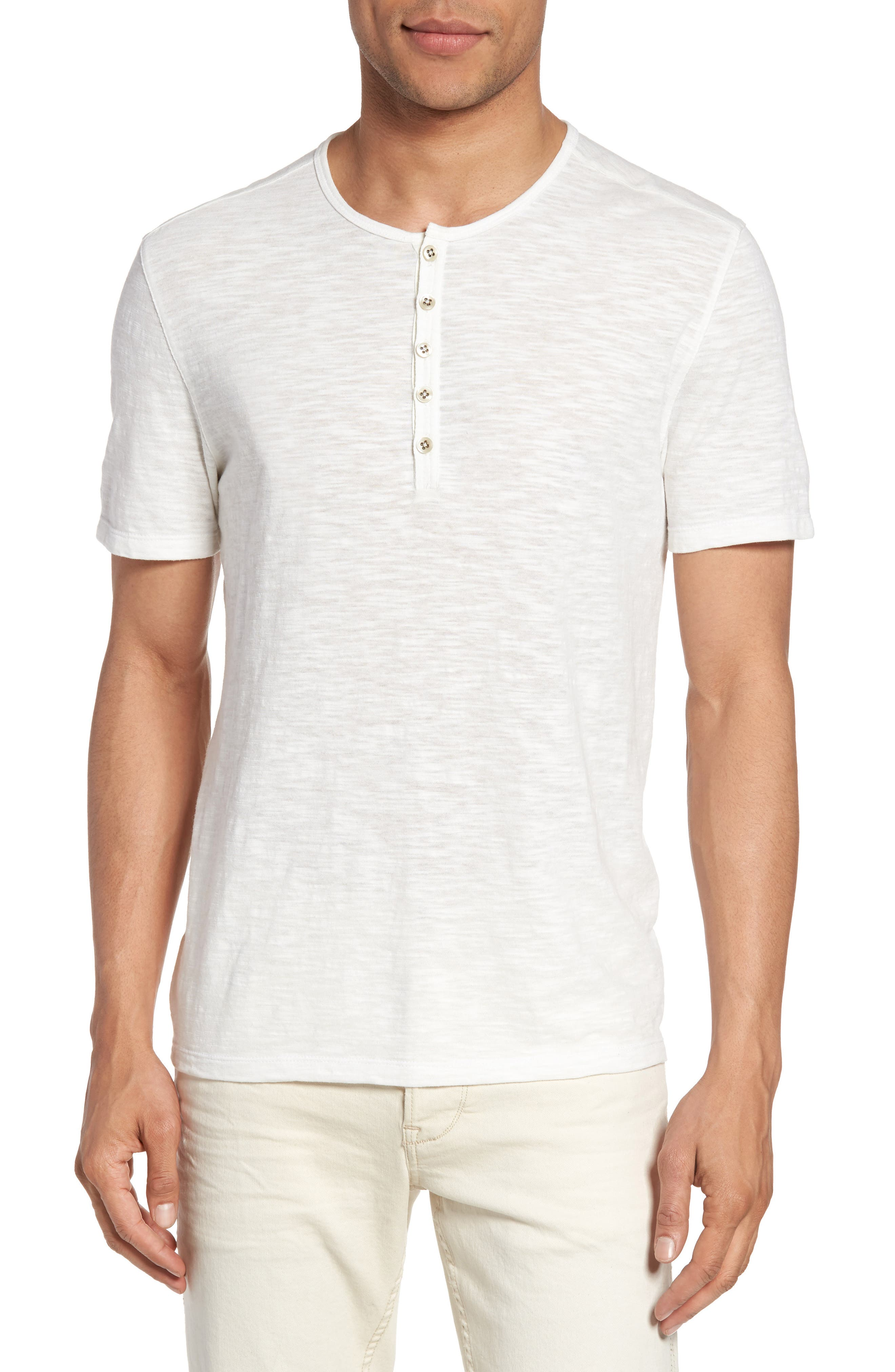 John Varvatos Star USA Mélange Knit Henley