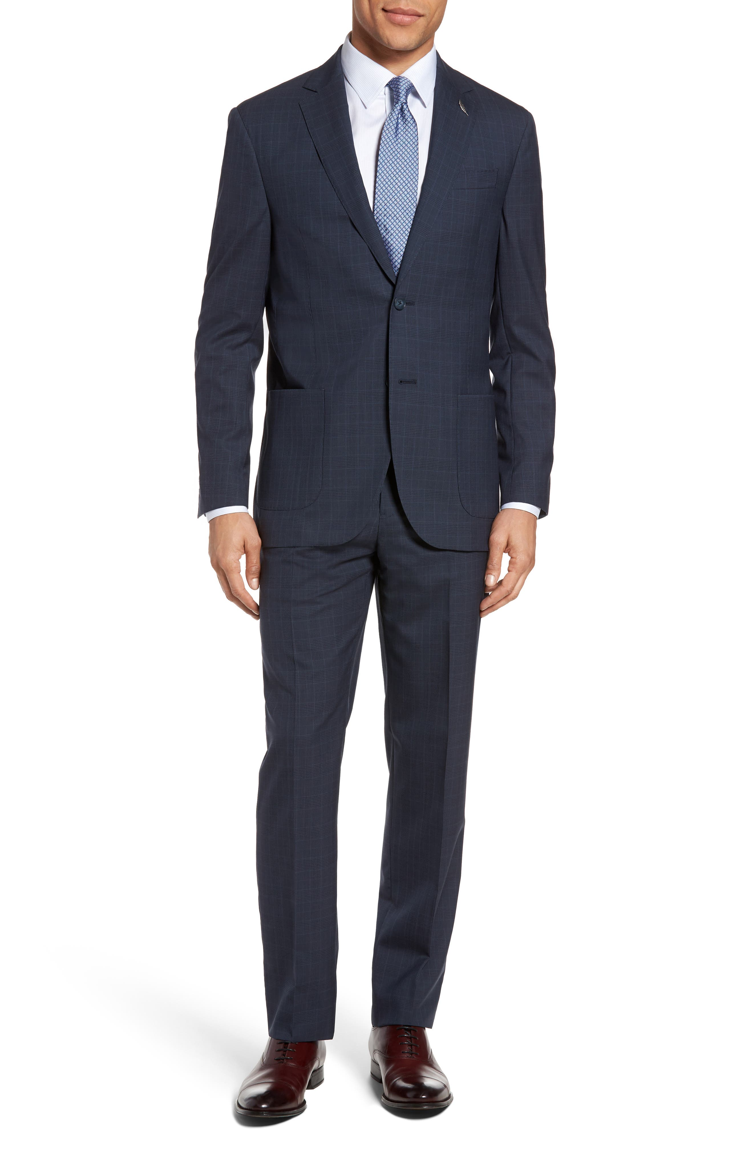 Michael Bastian Classic Fit Plaid Wool Suit