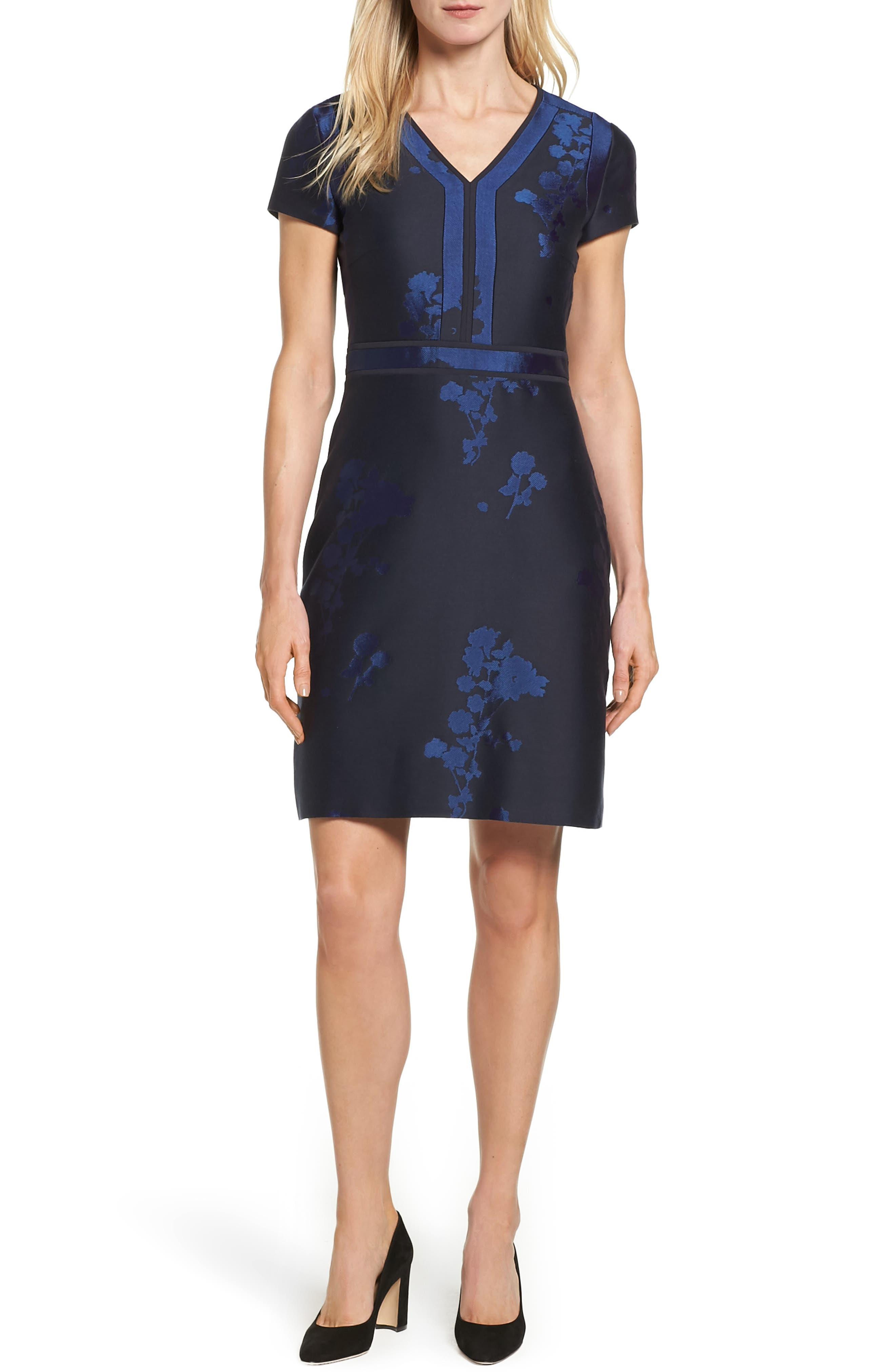 BOSS Demilana Floral A-Line Dress