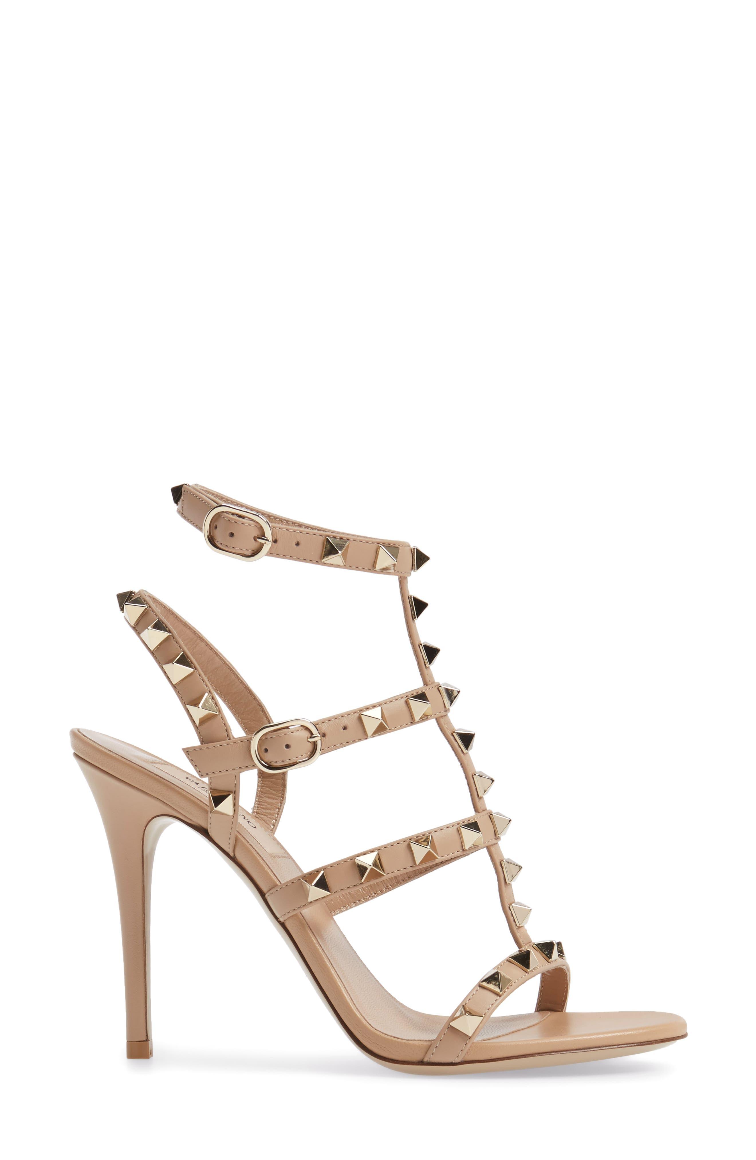 Alternate Image 3  - Valentino 'Rockstud' Ankle Strap Sandal (Women)