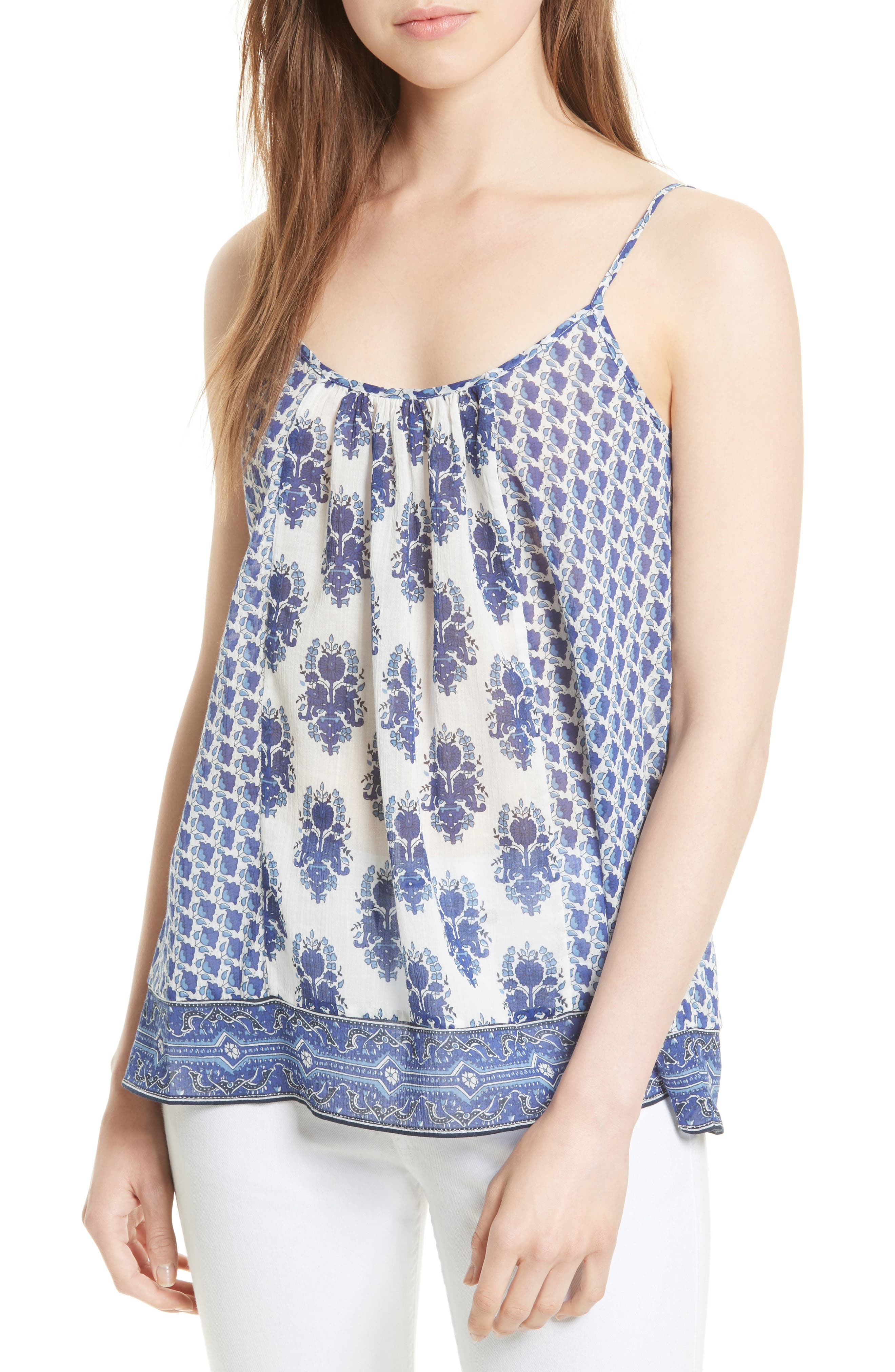 Soft Joie 'Sparkle' Block Print Cotton Tank