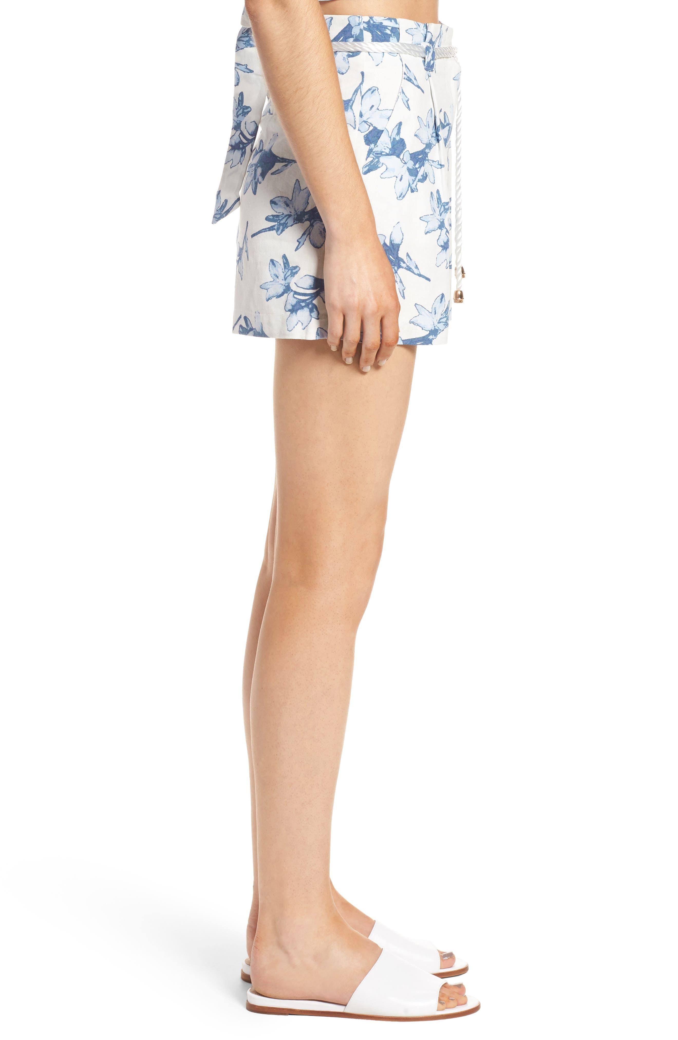Alternate Image 4  - J.O.A. High Waist Linen Shorts