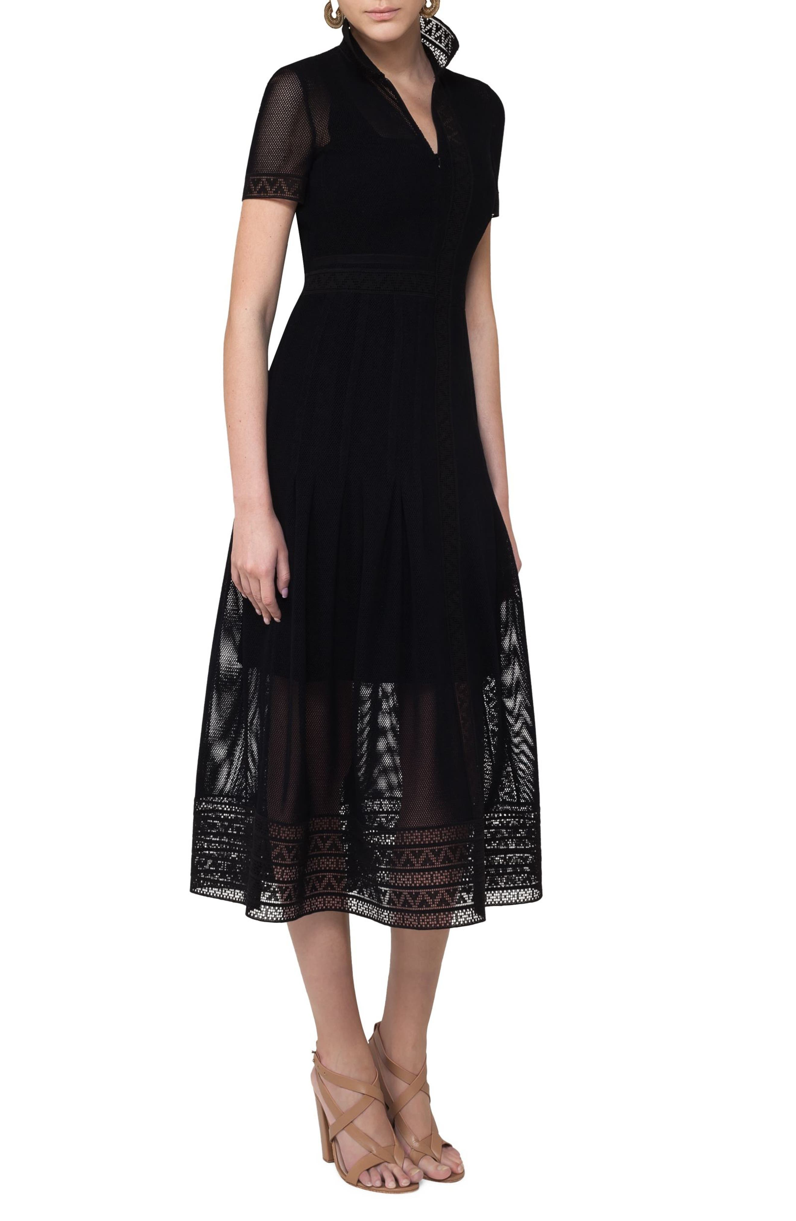 Alternate Image 3  - Akris punto Lace Mesh Midi Dress