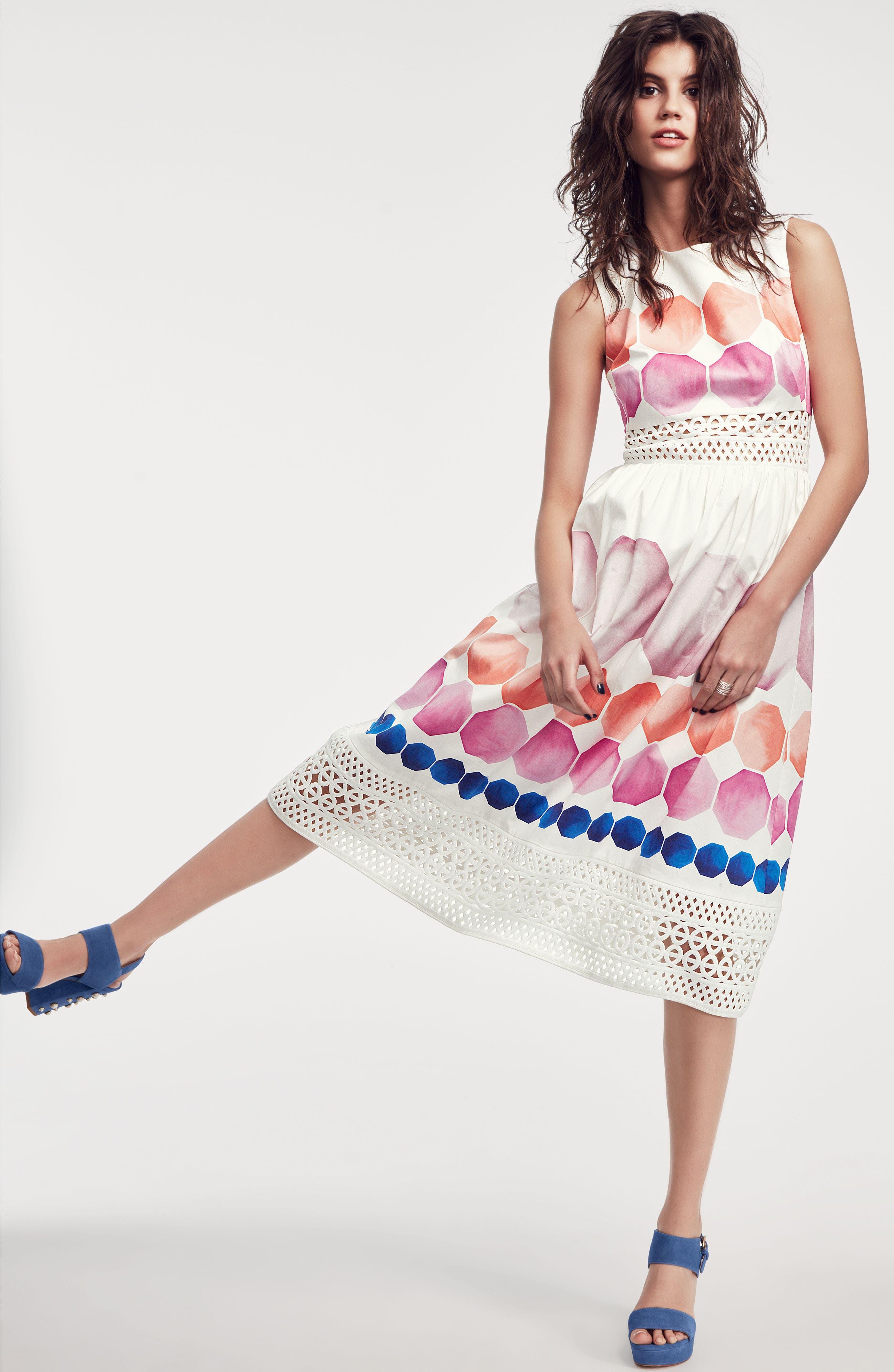 Alternate Image 2  - Ted Baker London Serinah Stretch Cotton Midi Dress
