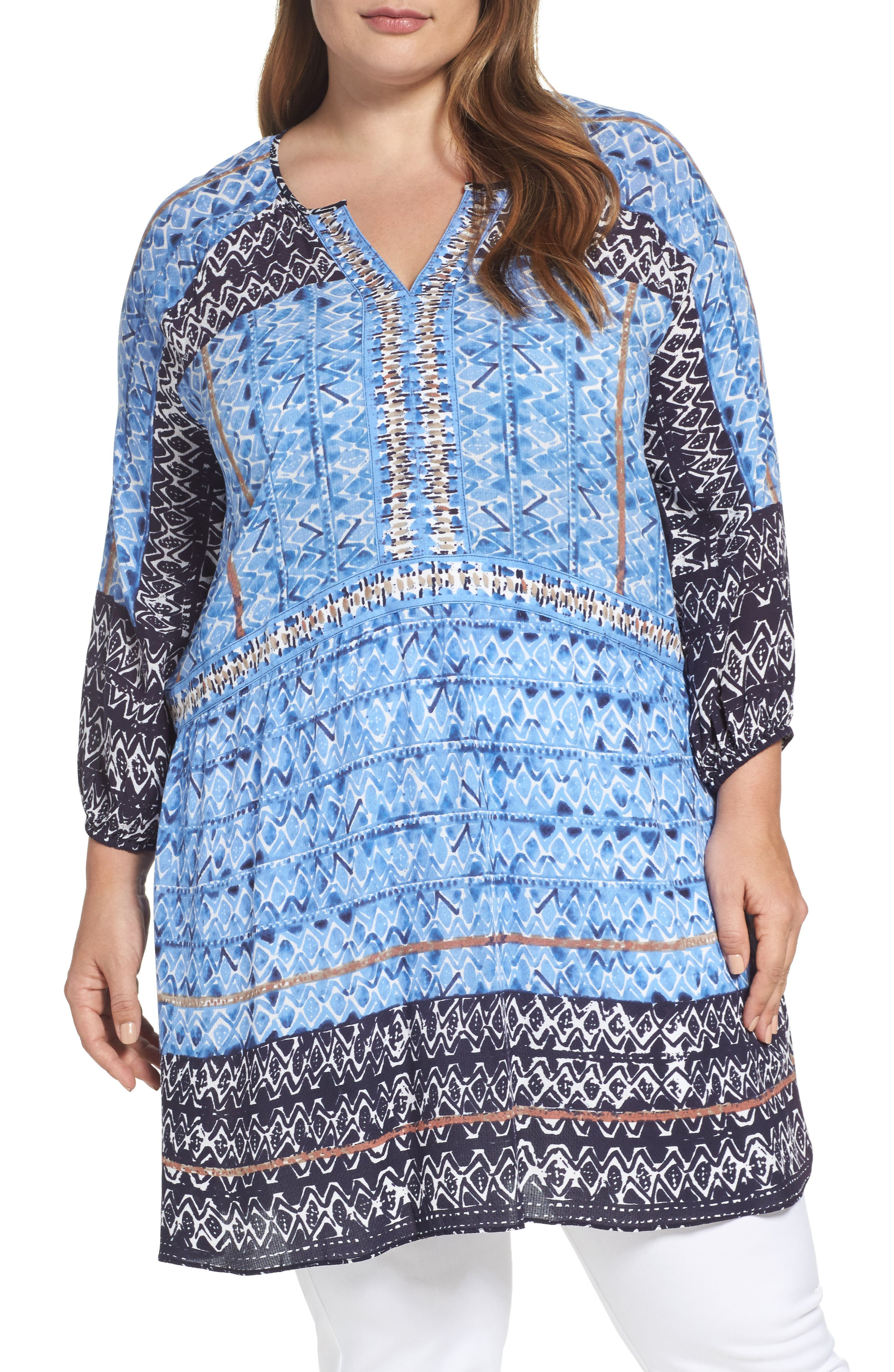 NIC+ZOE Sunny Days Tunic Top (Plus Size)