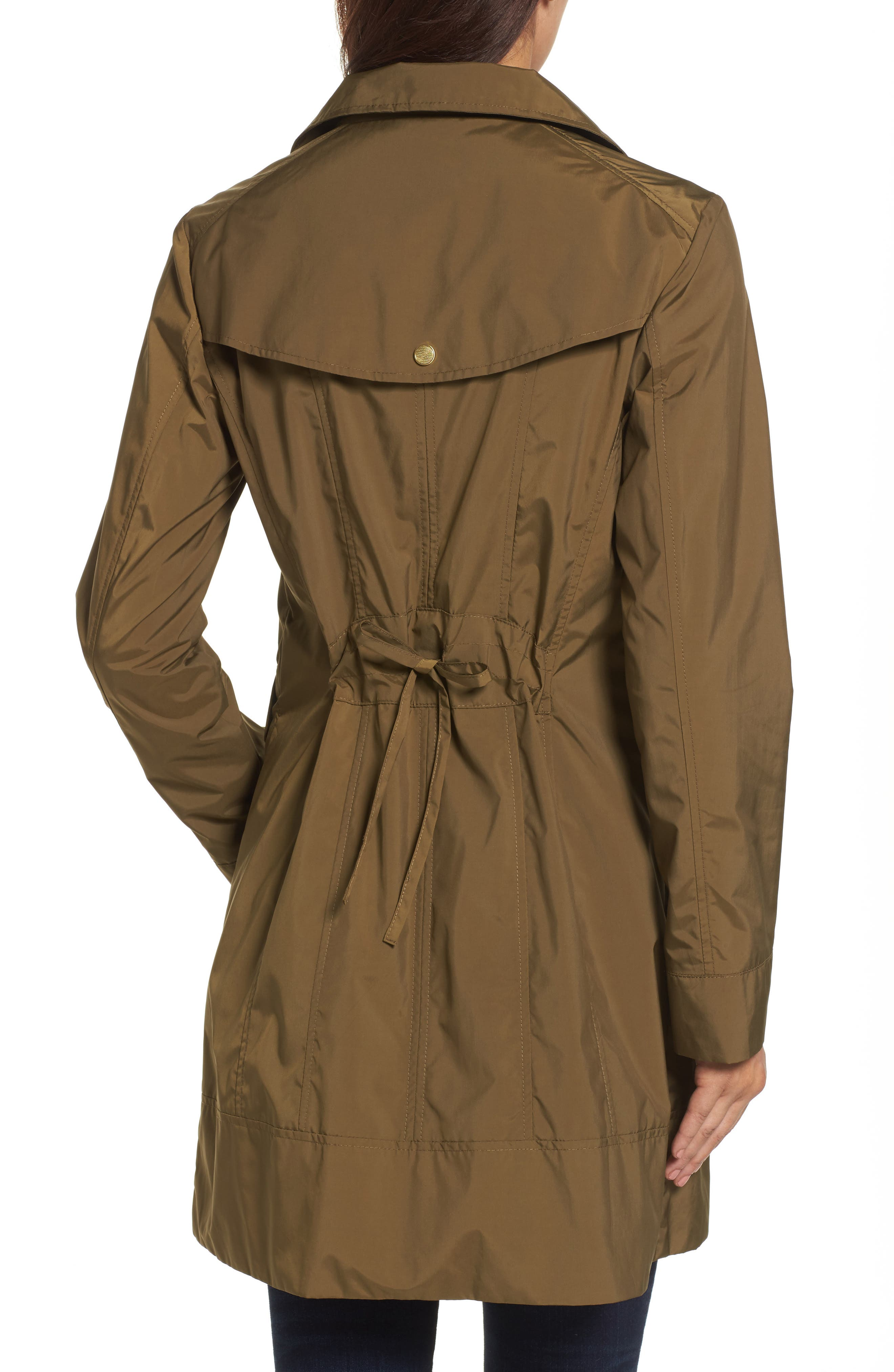 Alternate Image 2  - Cole Haan Signature Back Bow Packable Hooded Raincoat