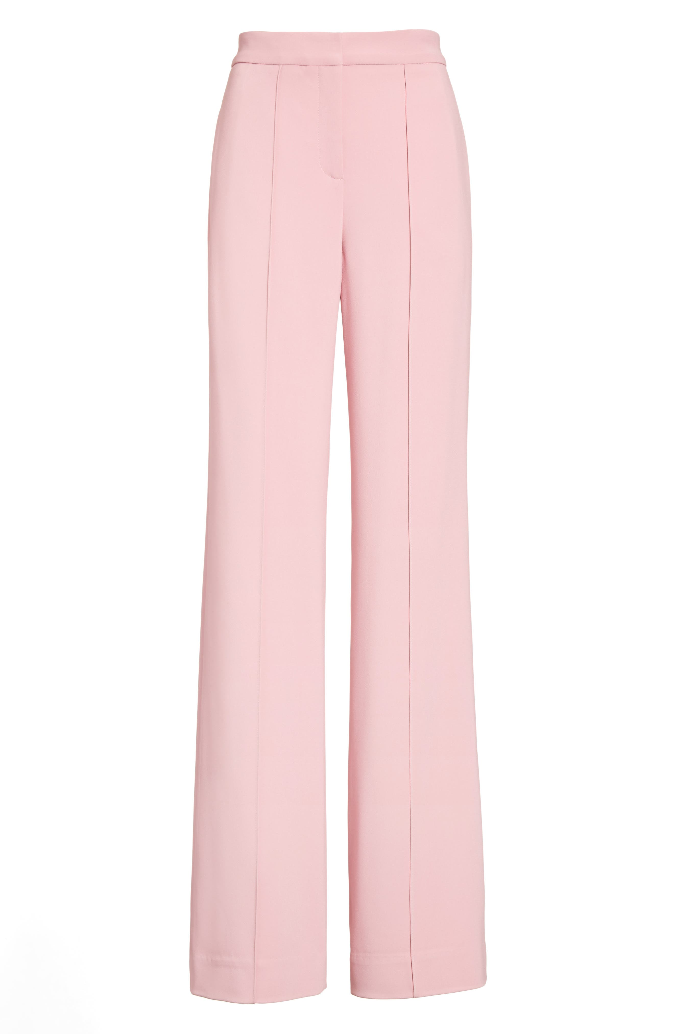 Alternate Image 4  - Adam Lippes Stretch Cady Wide Leg Trousers