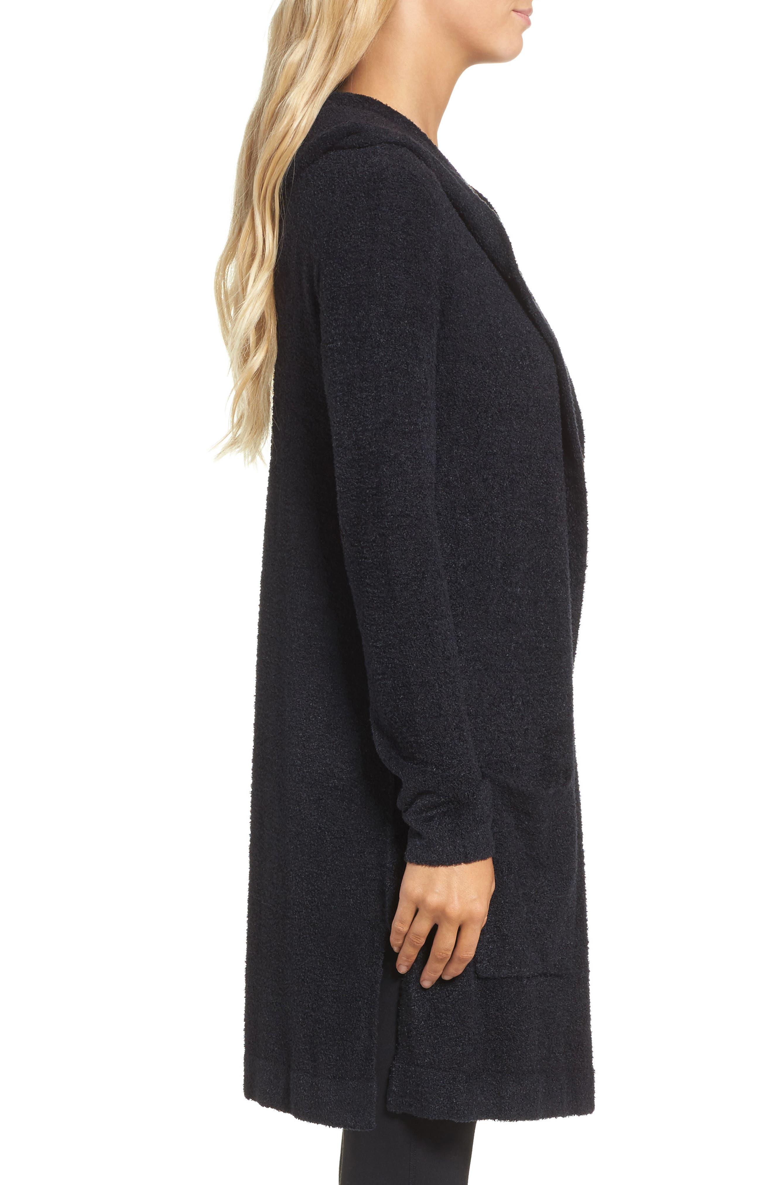 Alternate Image 3  - Barefoot Dreams® Cozychic Lite® Coastal Hooded Cardigan