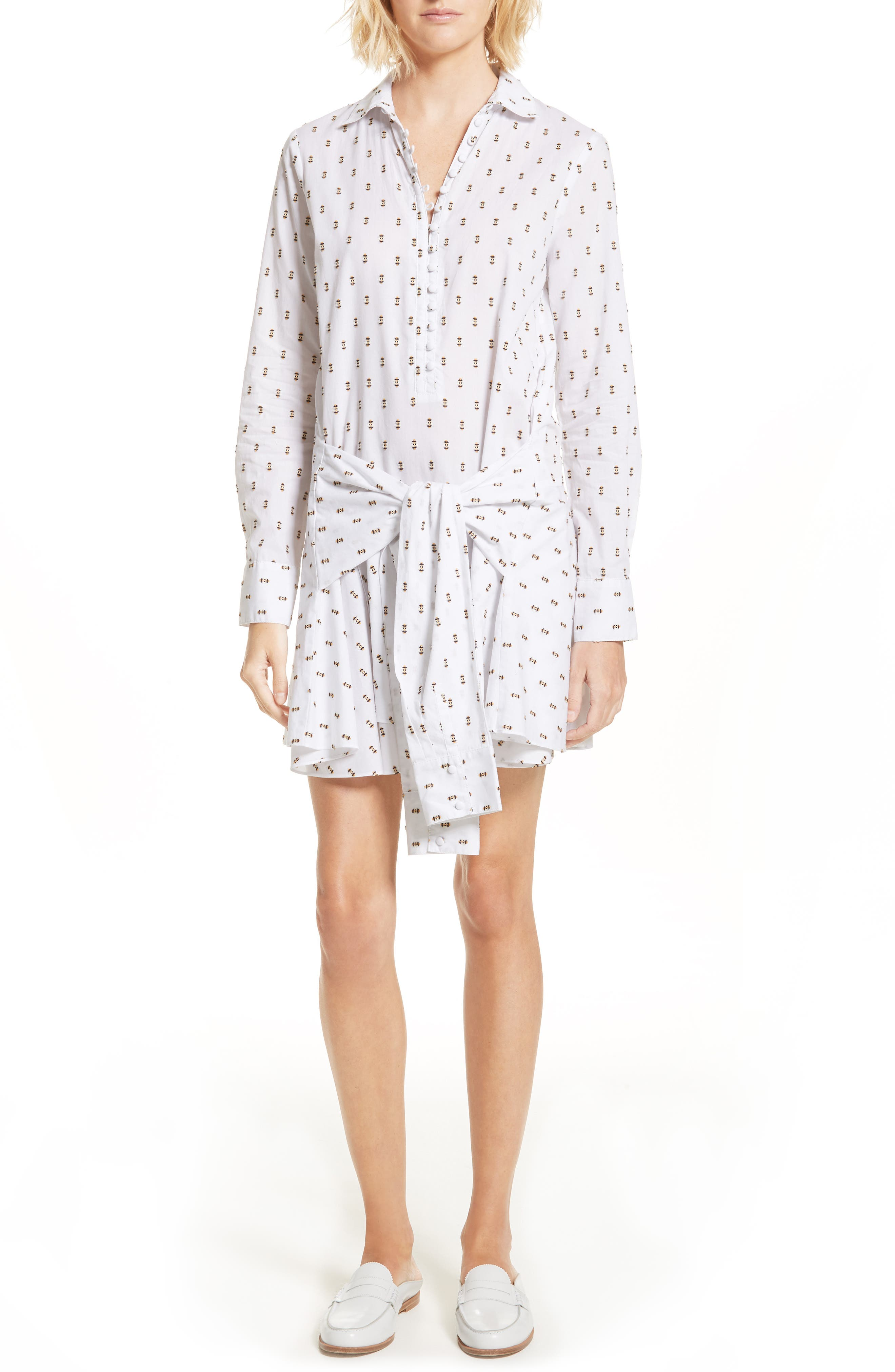 Derek Lam 10 Crosby Tie Waist Shirtdress