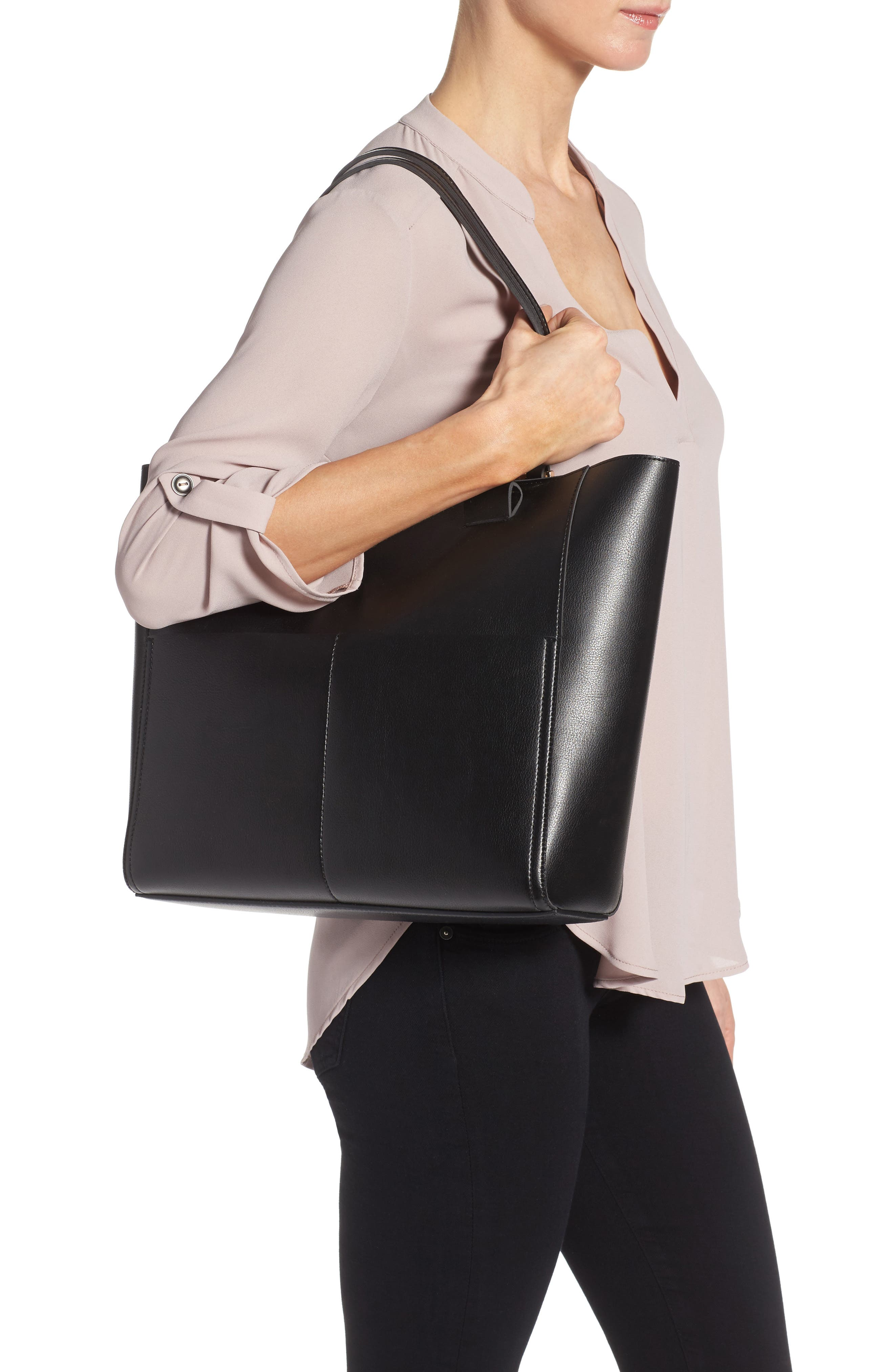 Alternate Image 2  - Sole Society Glenn Faux Leather Tote