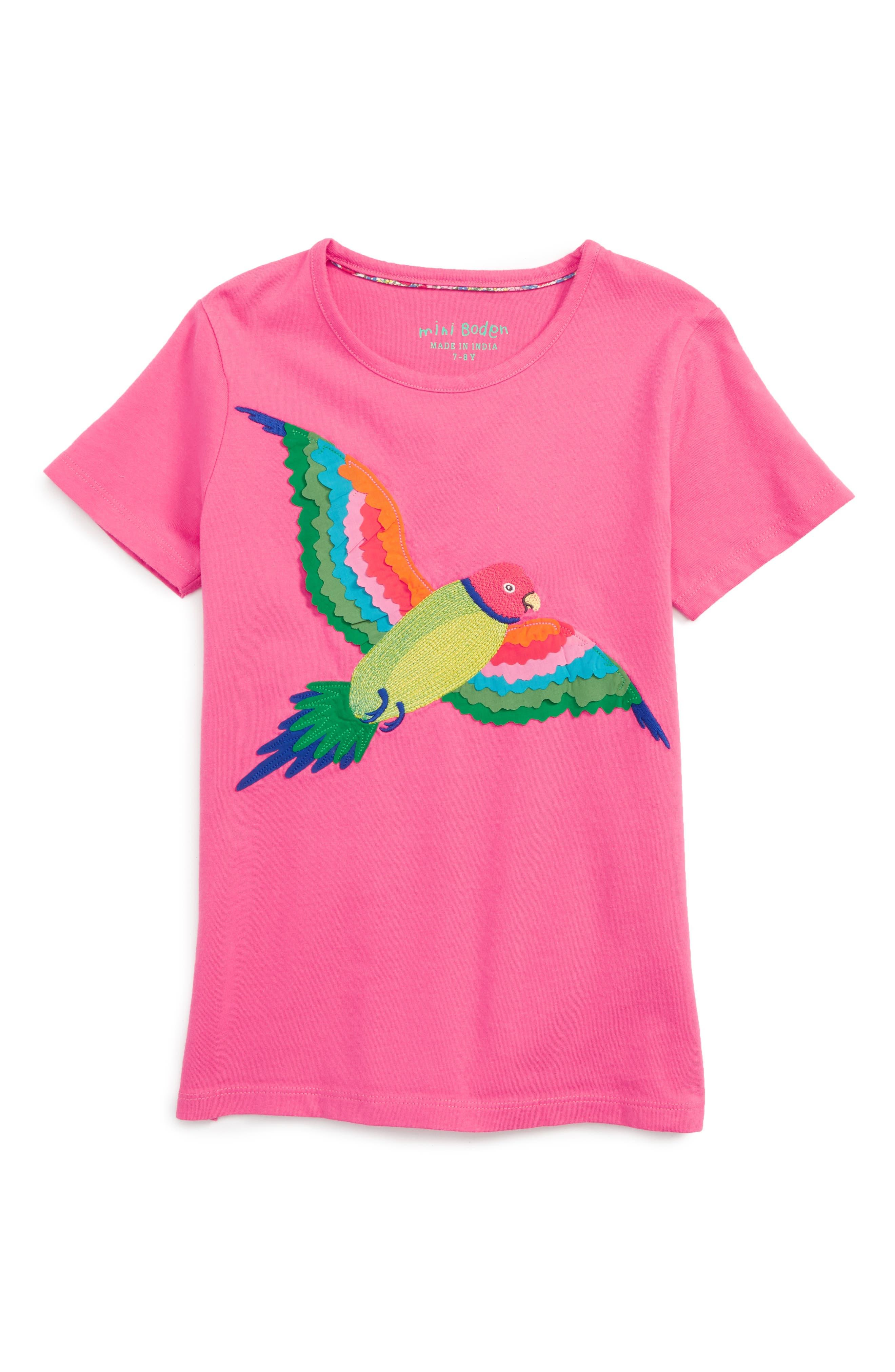 Mini Boden Animal Appliqué Tee (Toddler Girls, Little Girls & Big Girls)