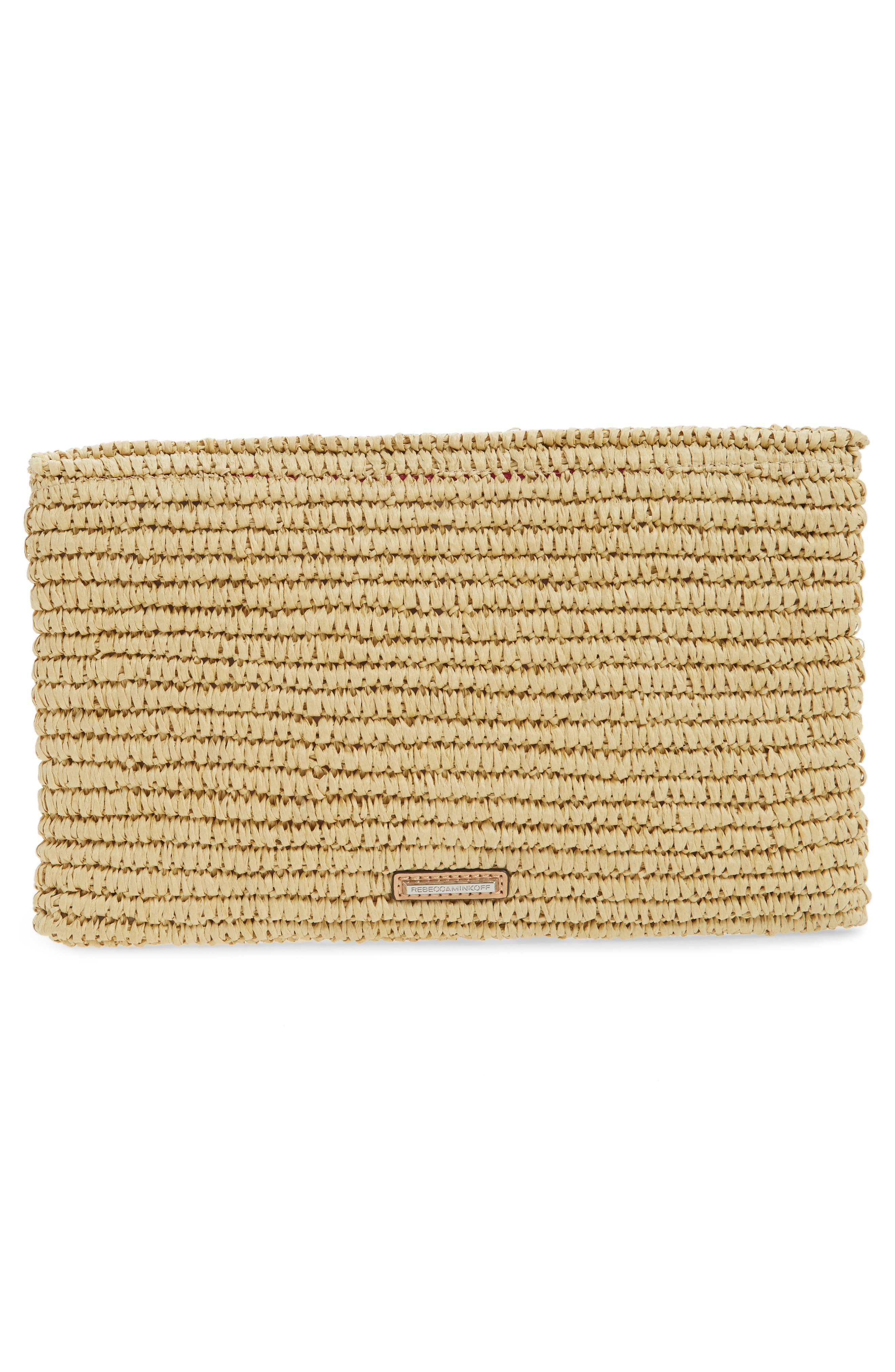 Alternate Image 3  - Rebecca Minkoff Beach Hair Pompom Straw Clutch