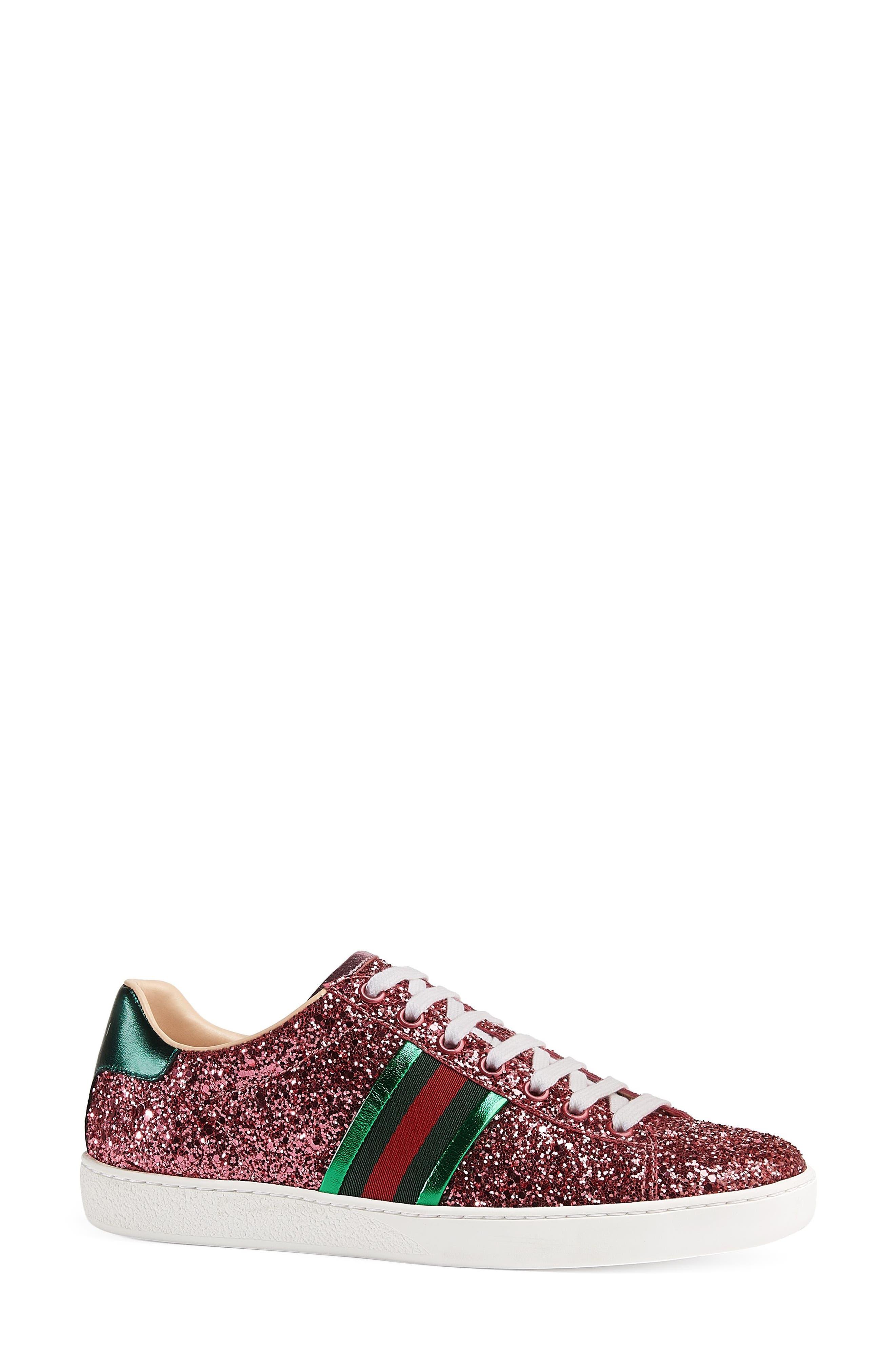 Alternate Image 2  - Gucci New Ace Glitter Sneaker (Women)