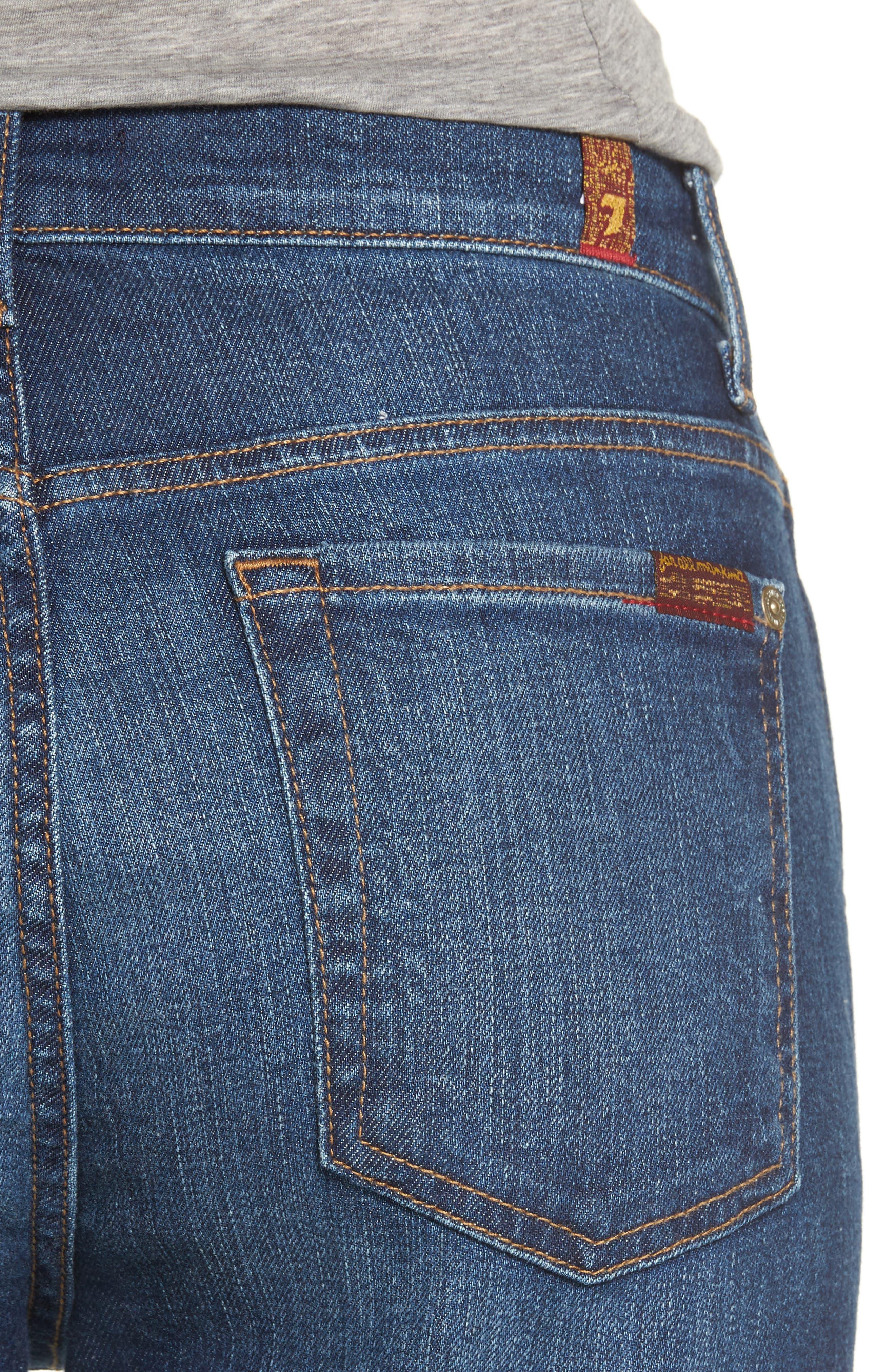 Alternate Image 4  - 7 For All Mankind® Kiki High Waist Crop Wide Leg Jeans (Eden Port)