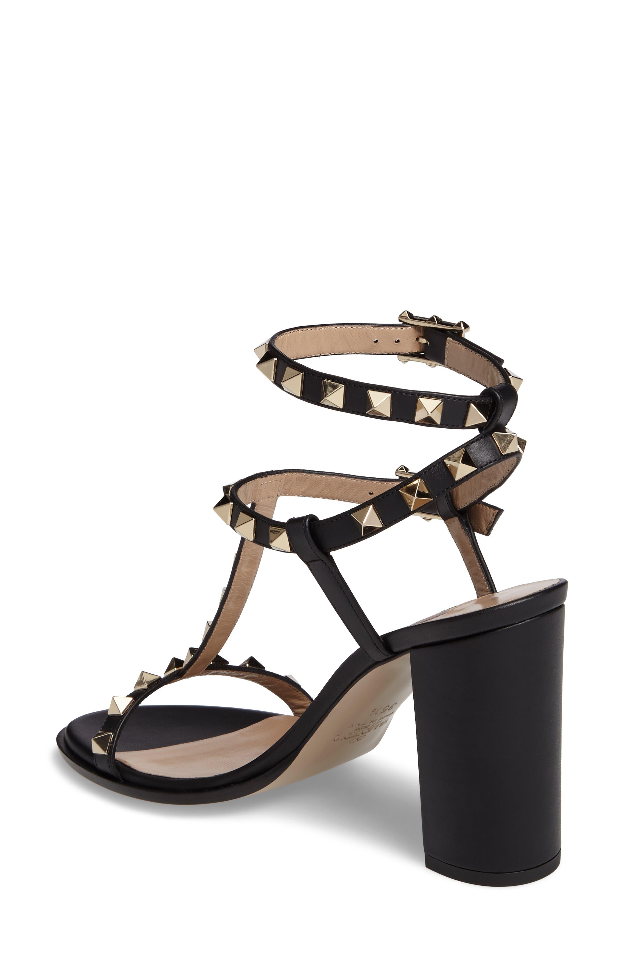 Alternate Image 2  - Valentino Rockstud Ankle Strap Sandal (Women)